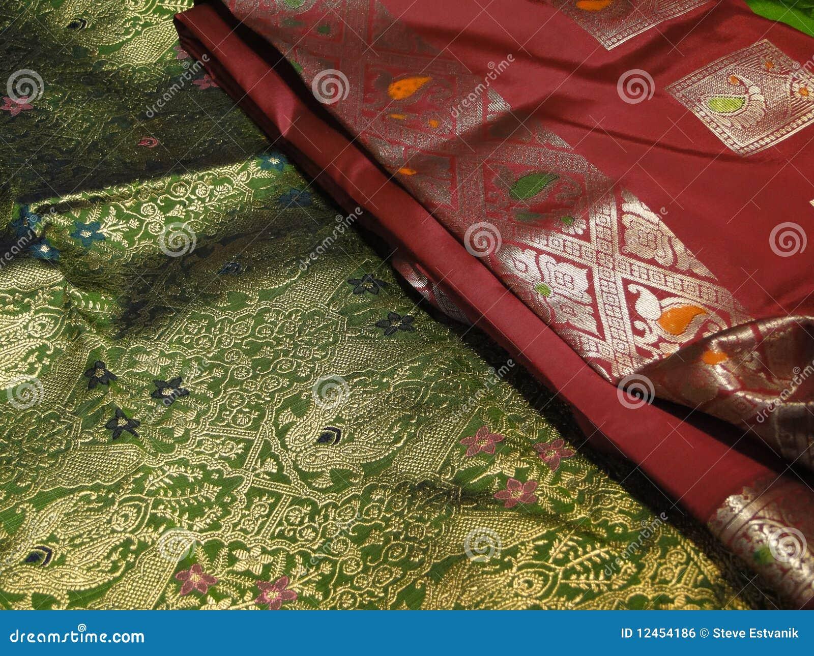 美丽的锦织品丝绸