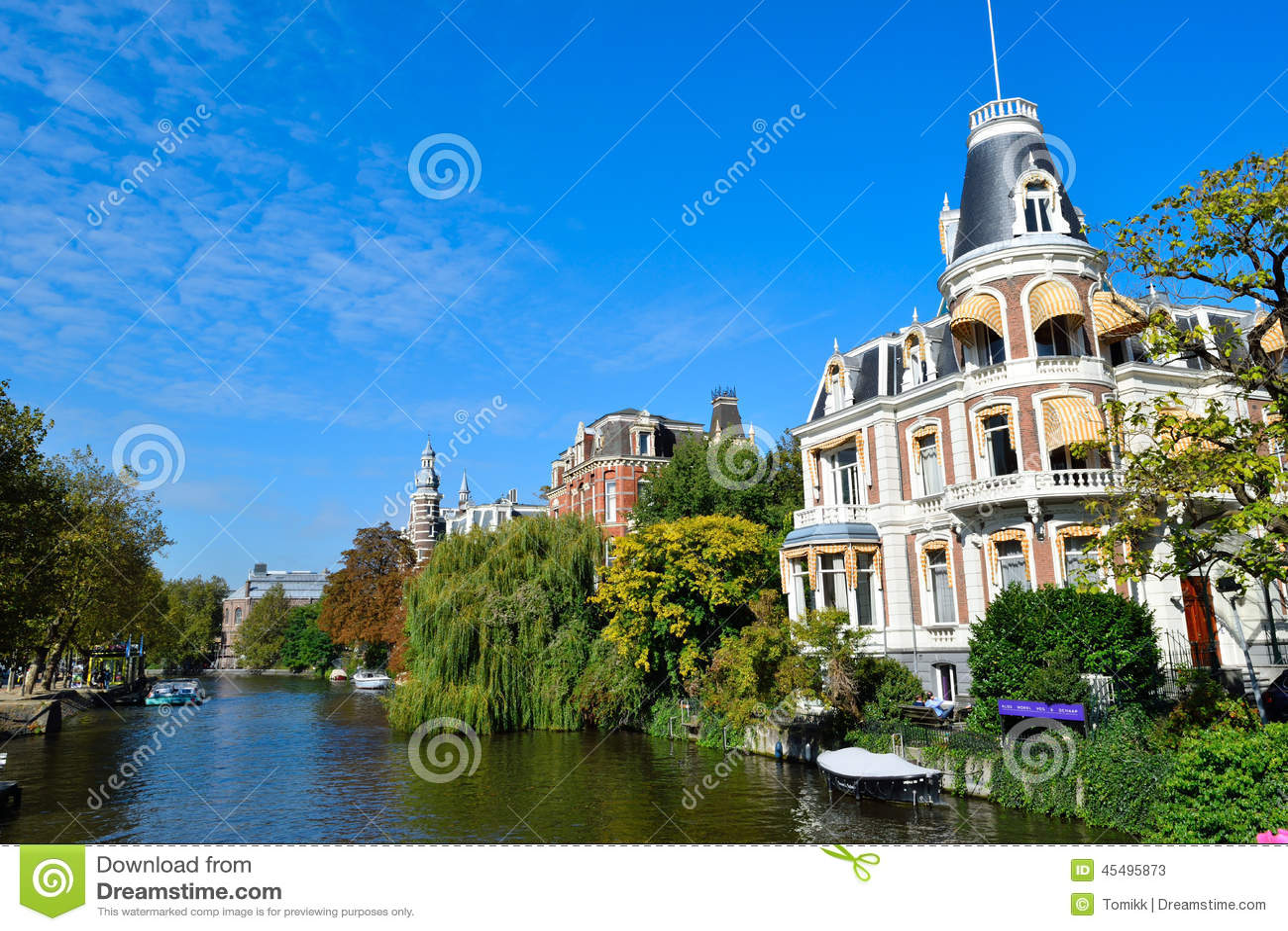 美丽的阿姆斯特丹运河