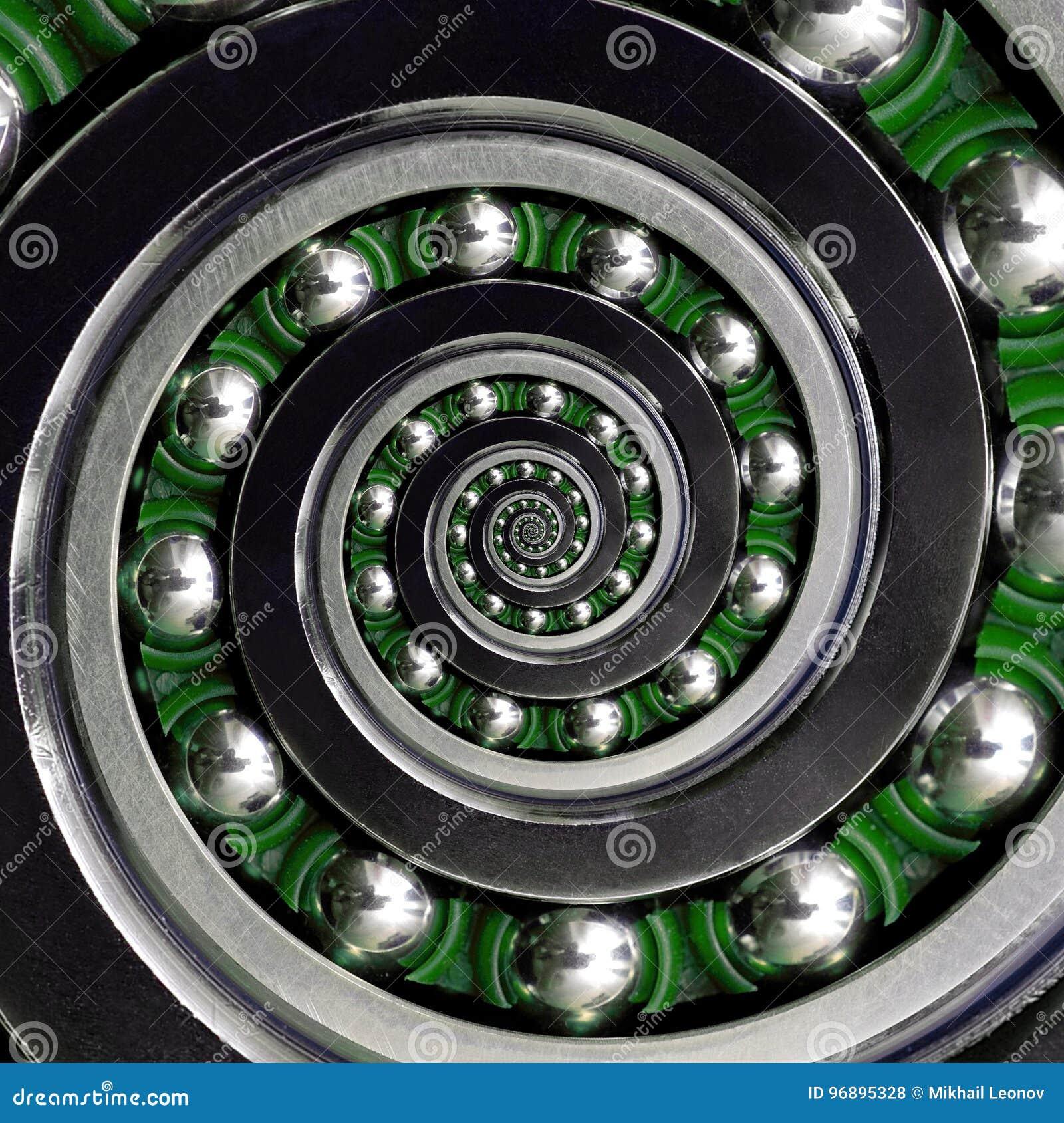 美丽的绿色笼子具体异常的工业顺时针螺旋滚珠轴承 双重螺旋轴承制造技术 Ab