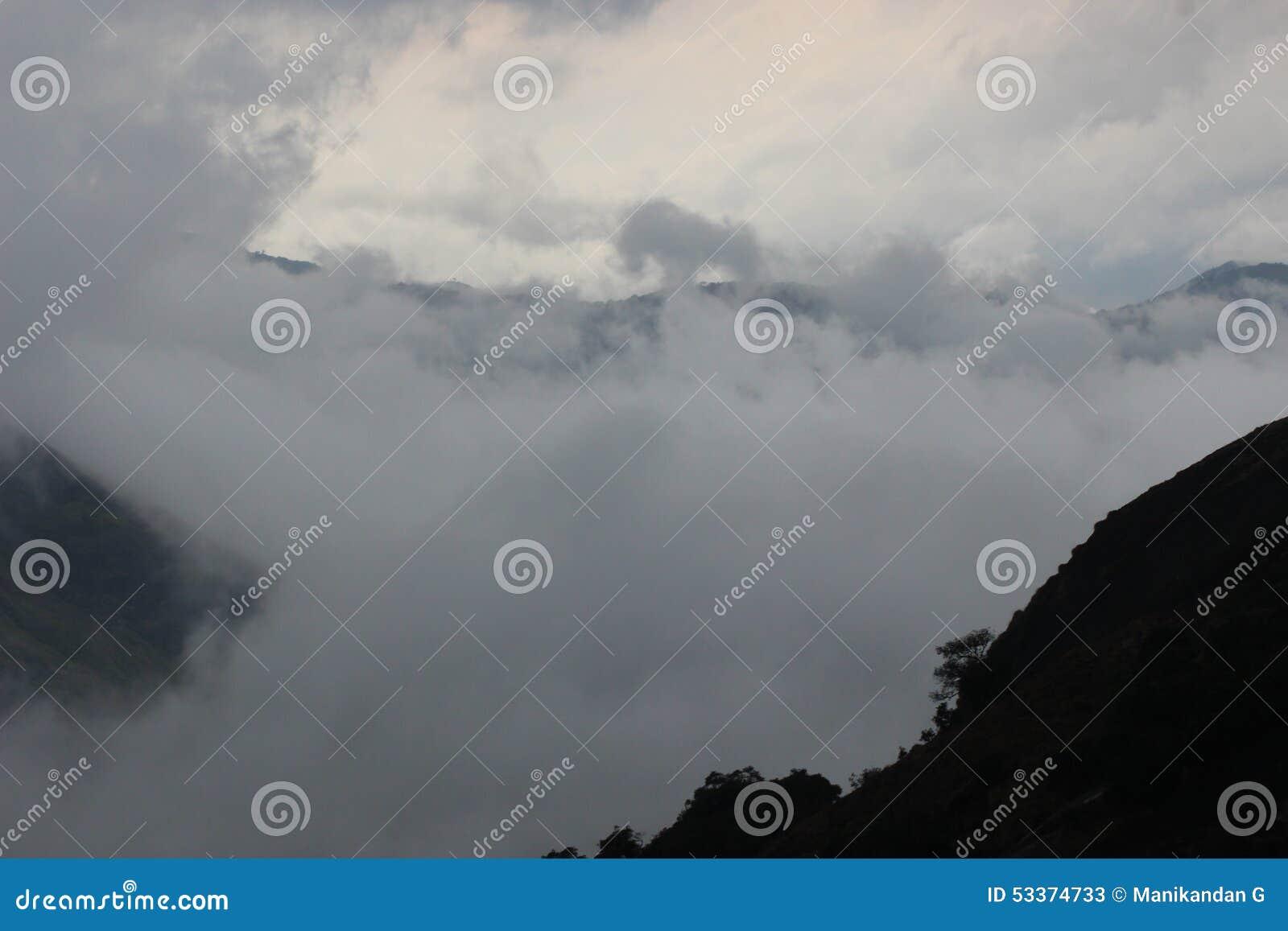 美丽的Indian Hills, Munnar,喀拉拉,印度