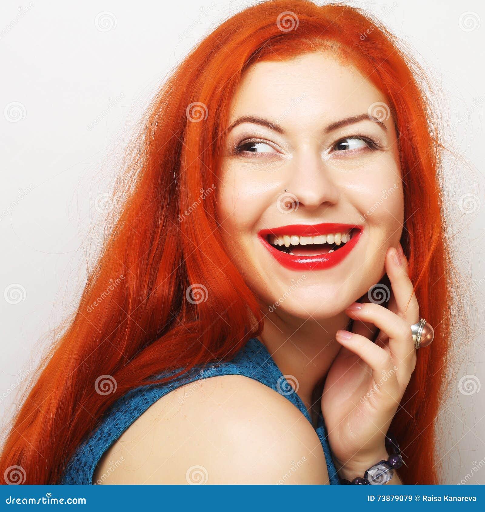 美丽的redhair妇女