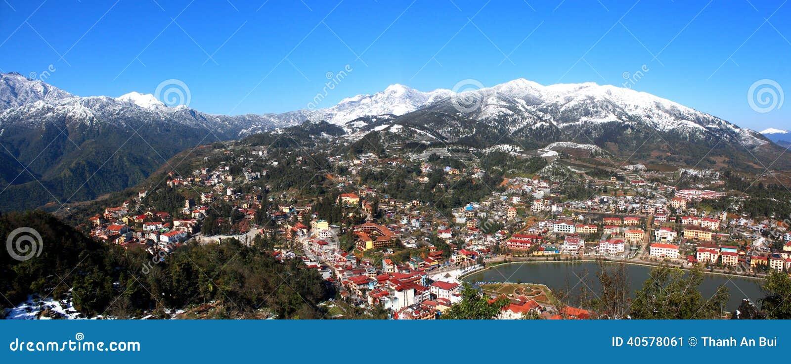 美丽的Sapa镇