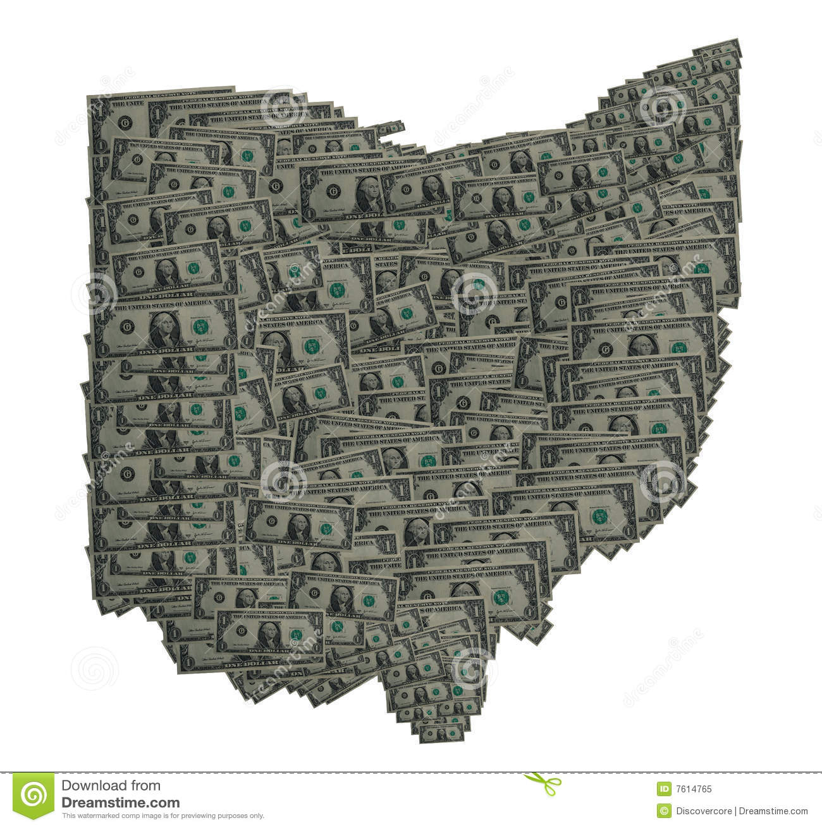 美元俄亥俄分级显示