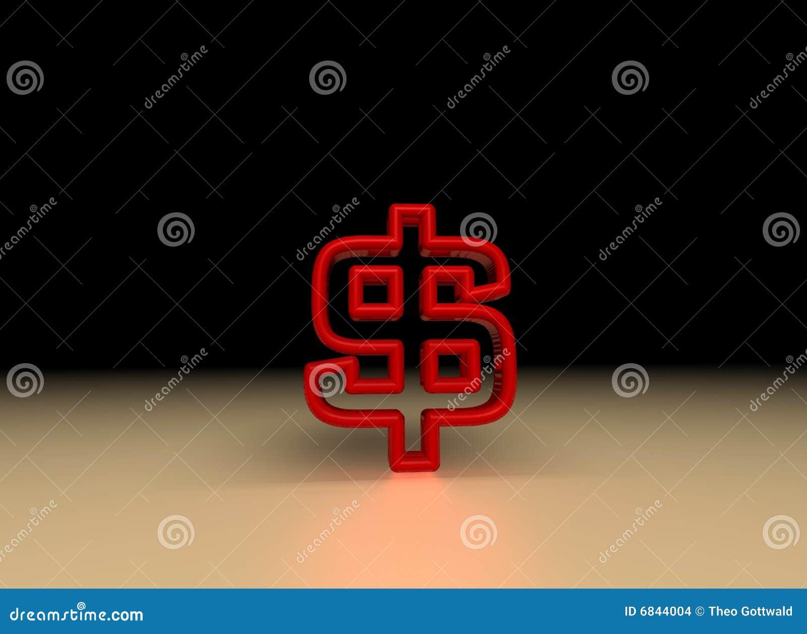美元红色符号