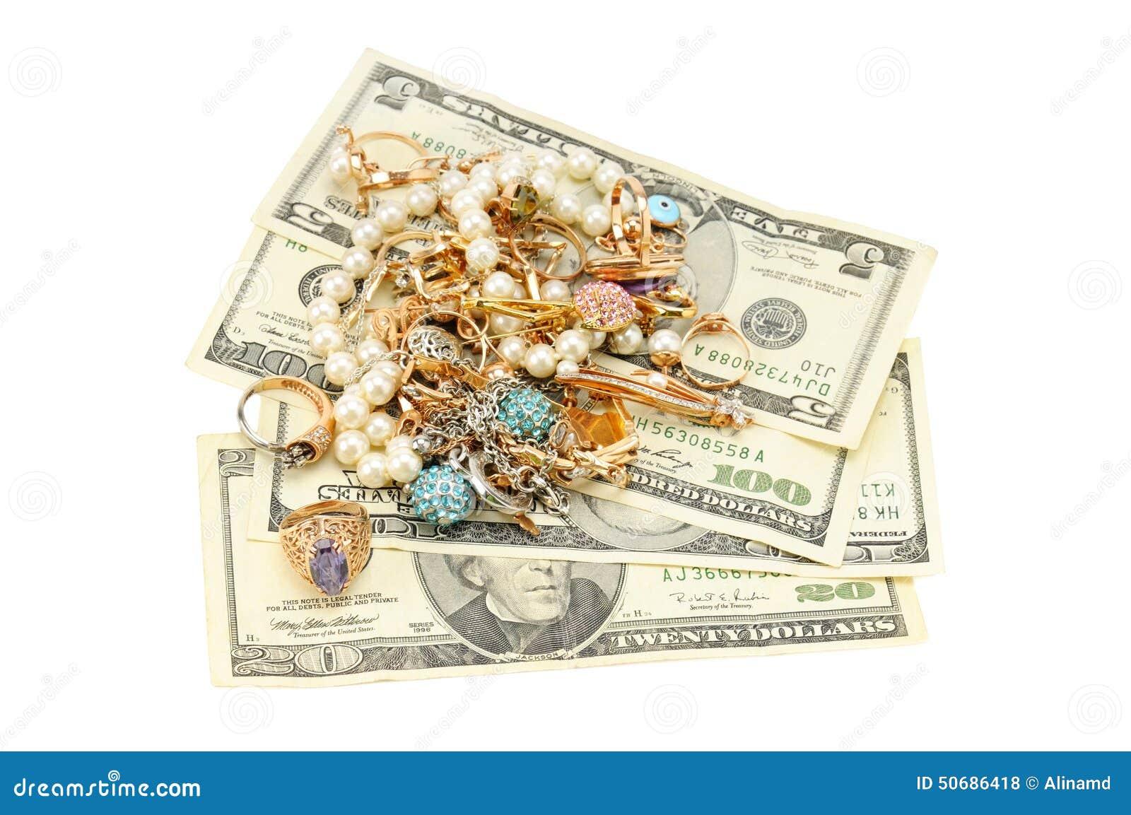Download 美元金装饰品 库存照片. 图片 包括有 项链, 美元, beauvoir, 商业, 消耗大, 财务, 珠宝 - 50686418