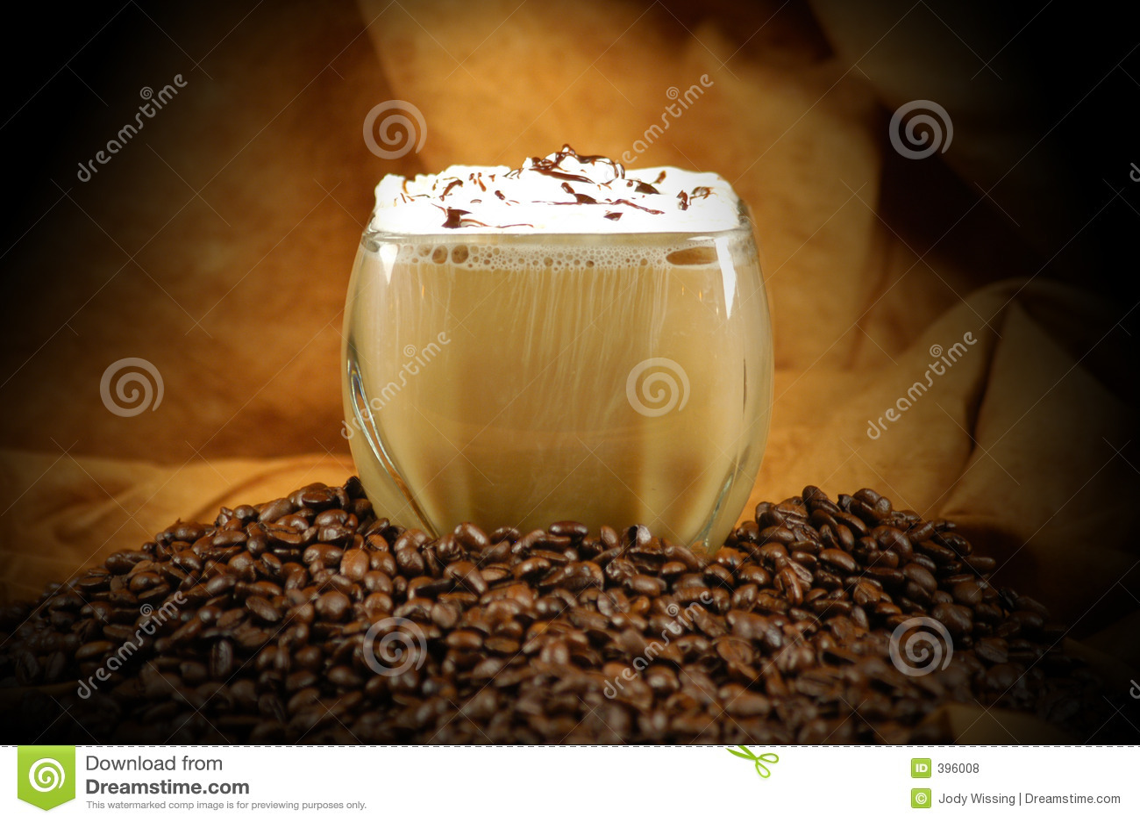 美味咖啡的饮料