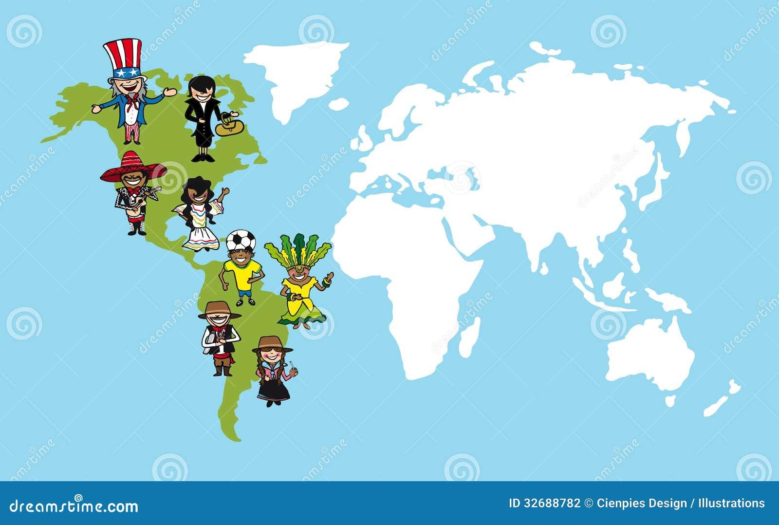 美国人动画片,世界地图变化illus