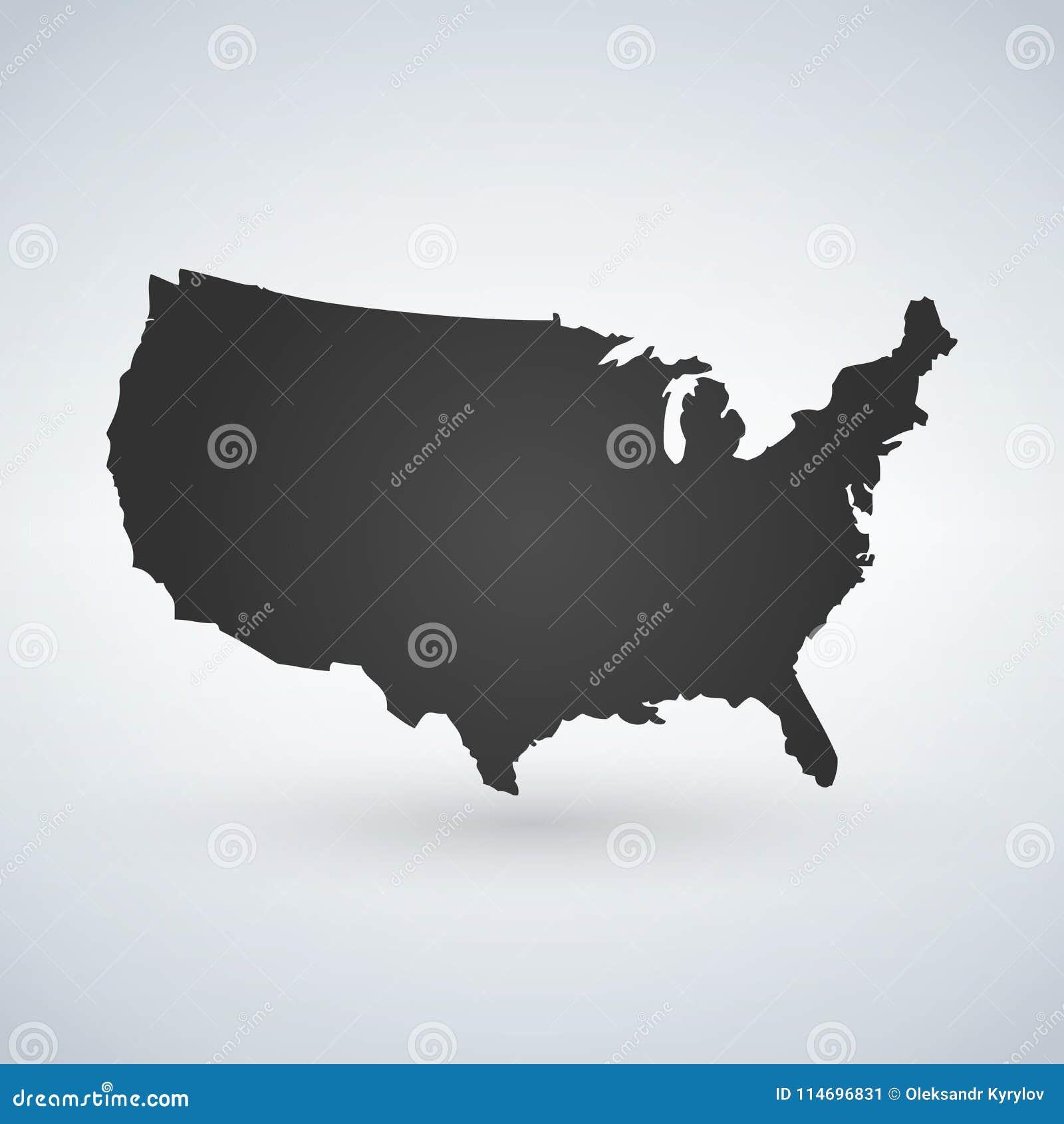 美国商标或象与美国信件横跨地图,美利坚合众国 在现代背景隔绝的传染媒介例证与
