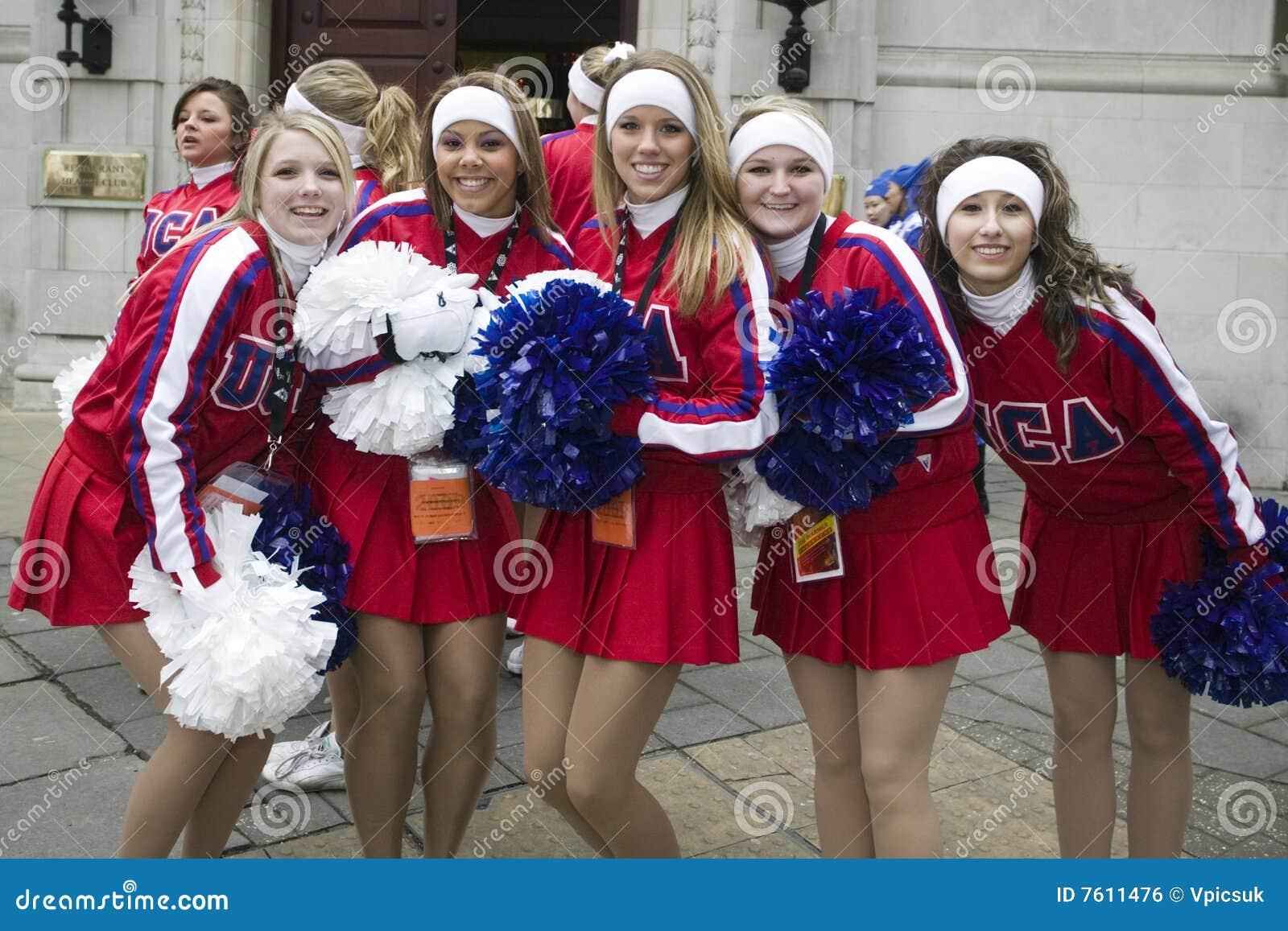 美国啦啦队员伦敦游行