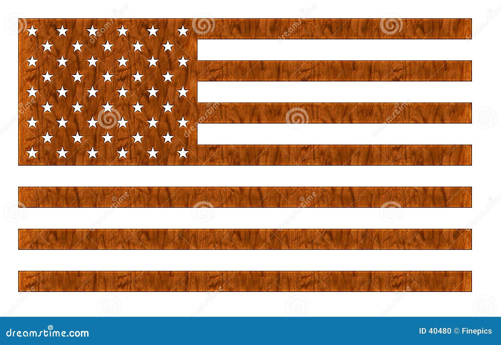 美国国旗木头