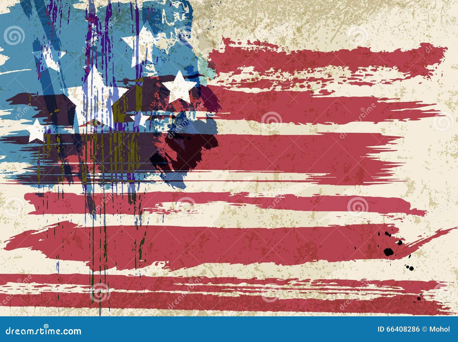 美国国旗艺术品