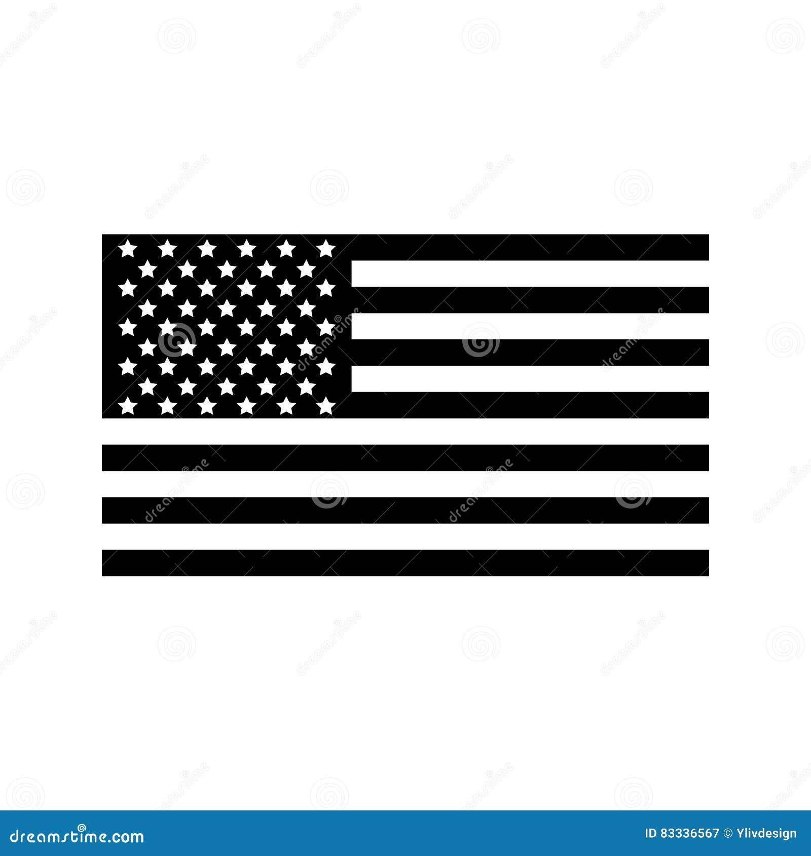 美国国旗象,简单的样式