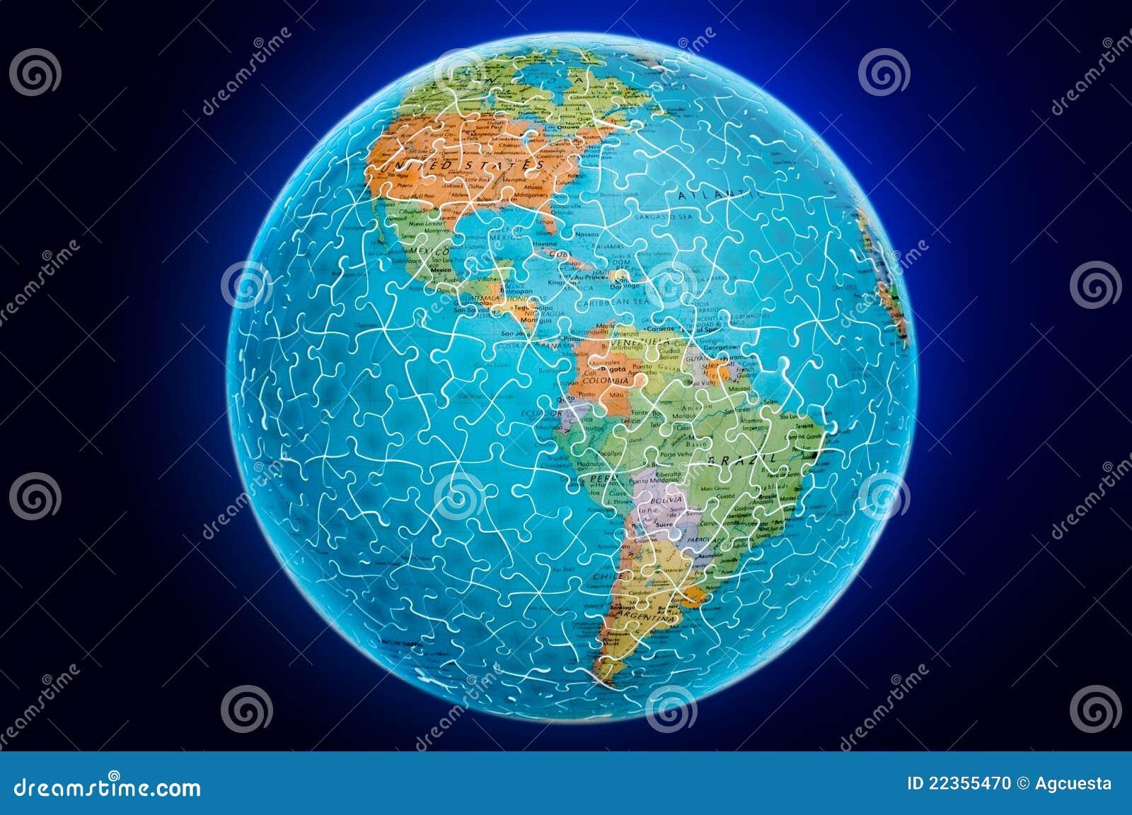 美国地球地球例证难题
