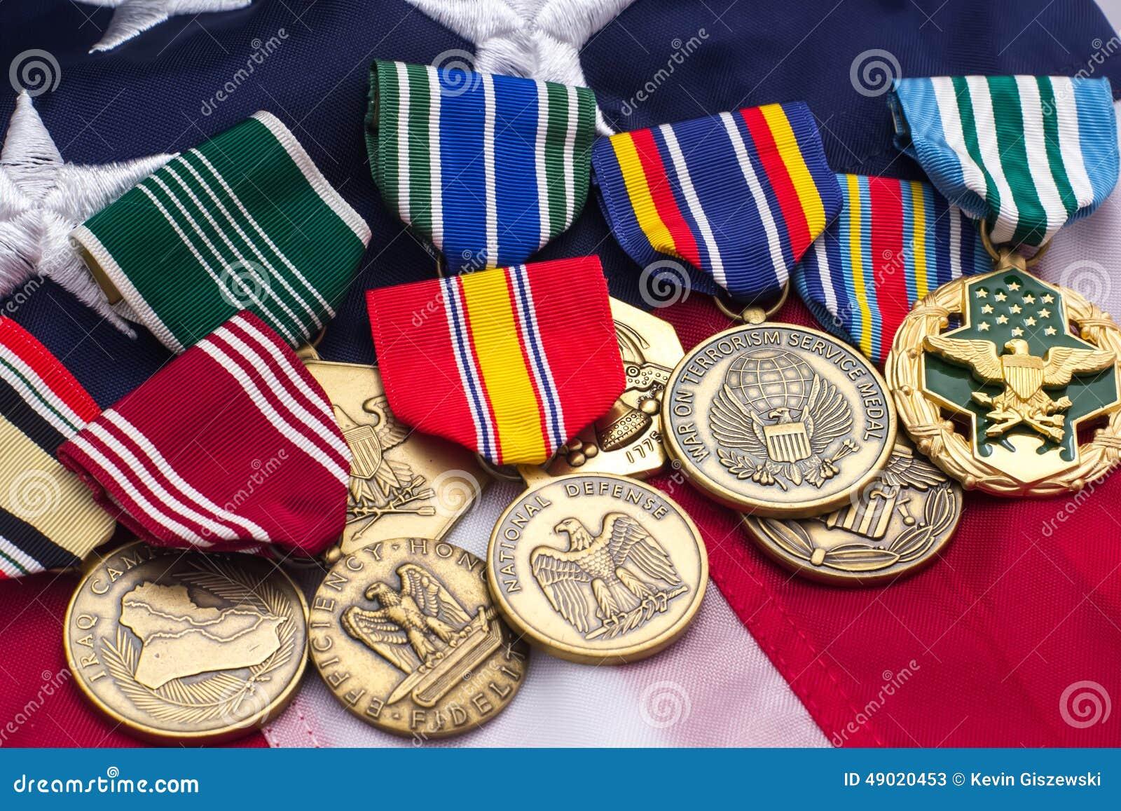 美国旗子军事奖牌