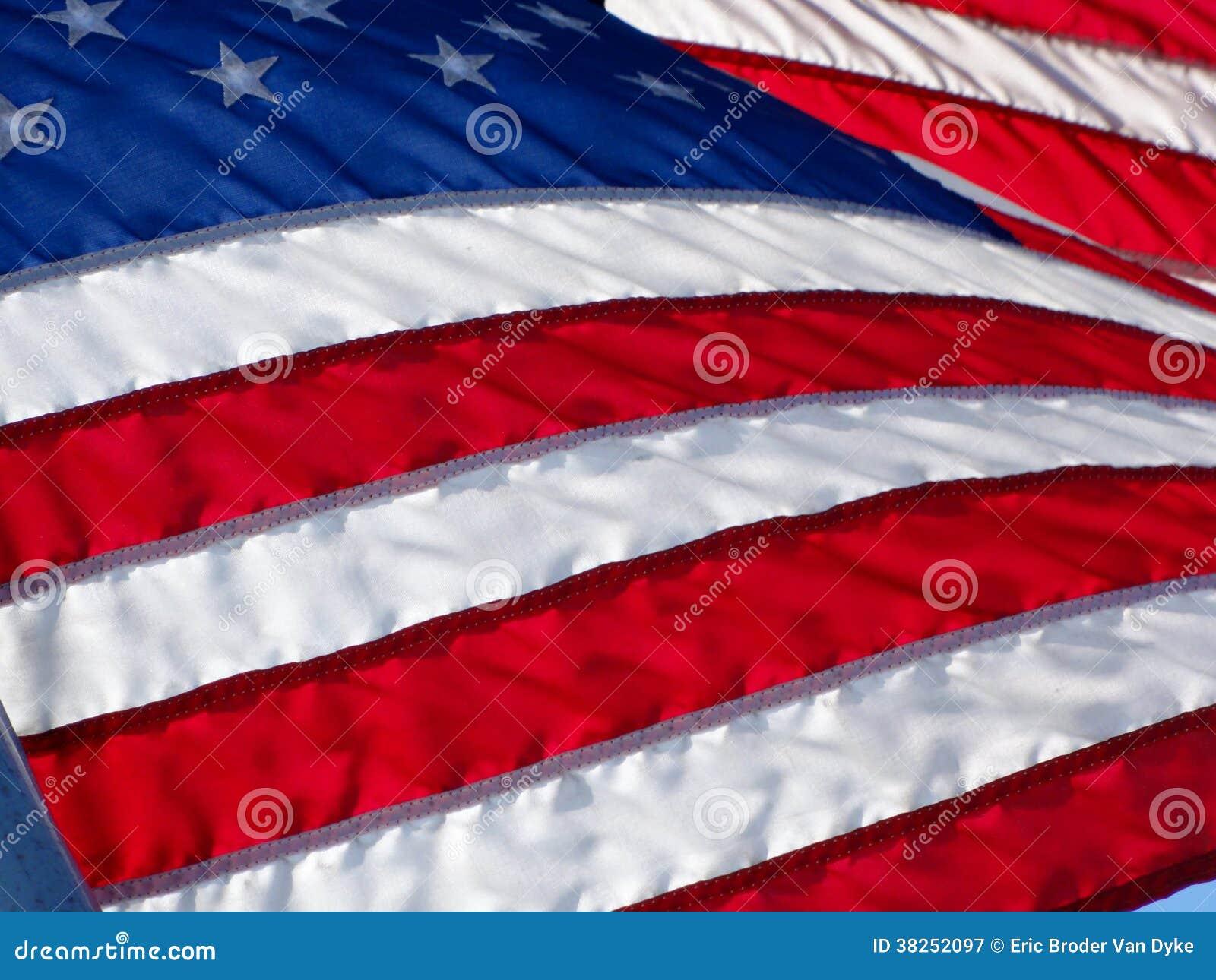 美国旗子在风挥动