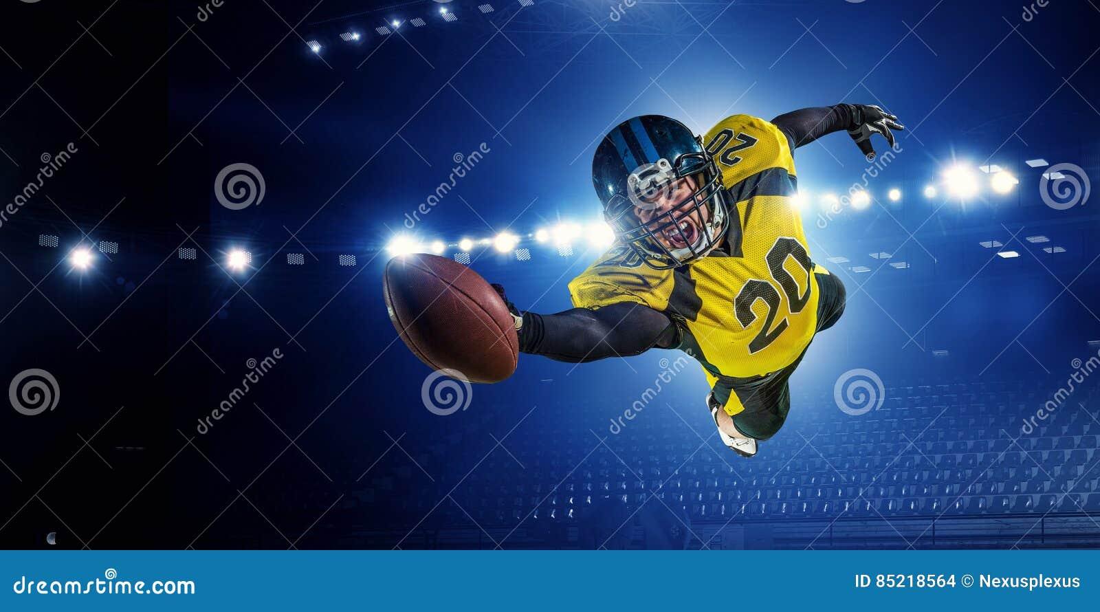 美国橄榄球运动员 混合画法