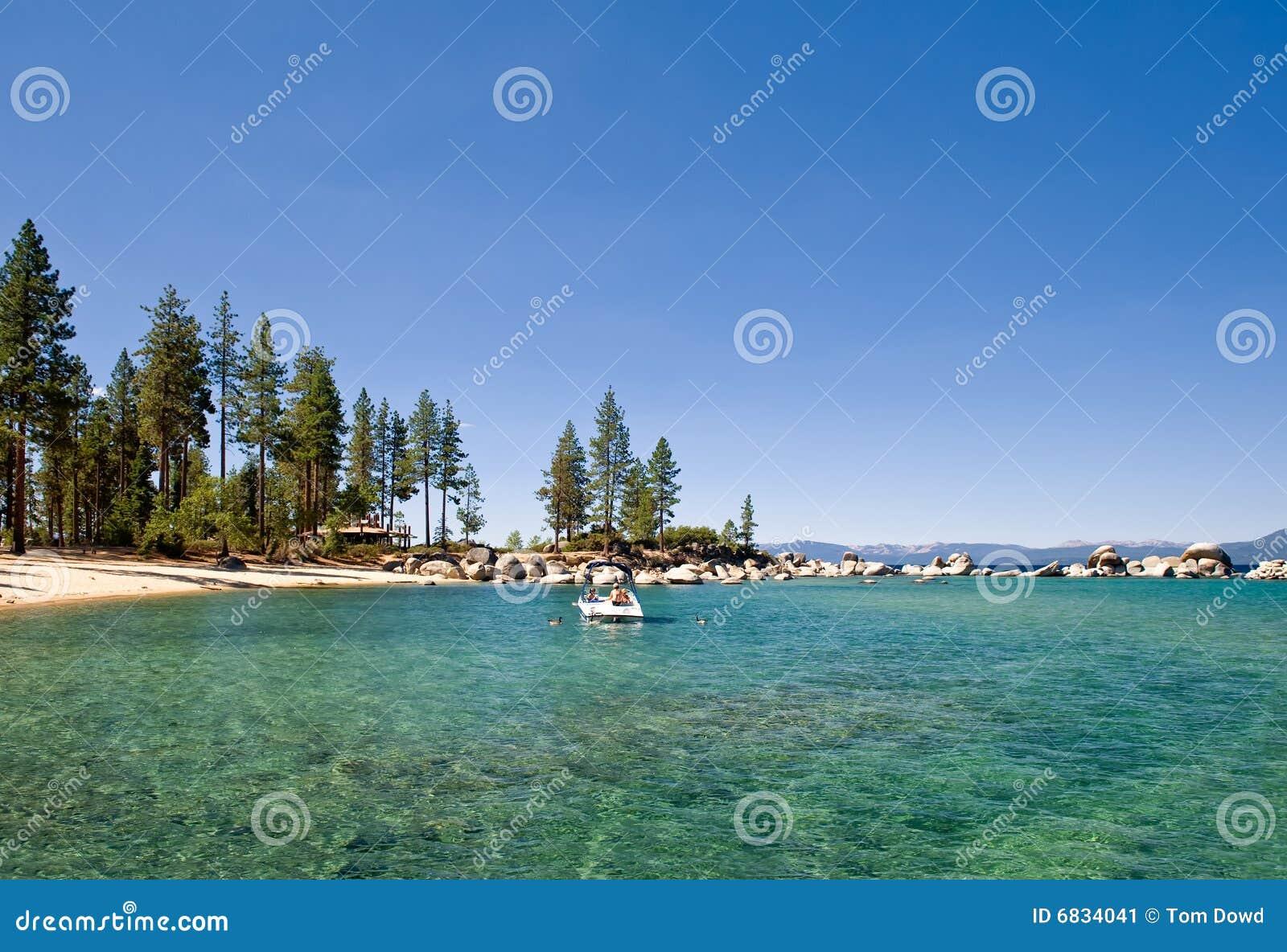 美国湖风景tahoe