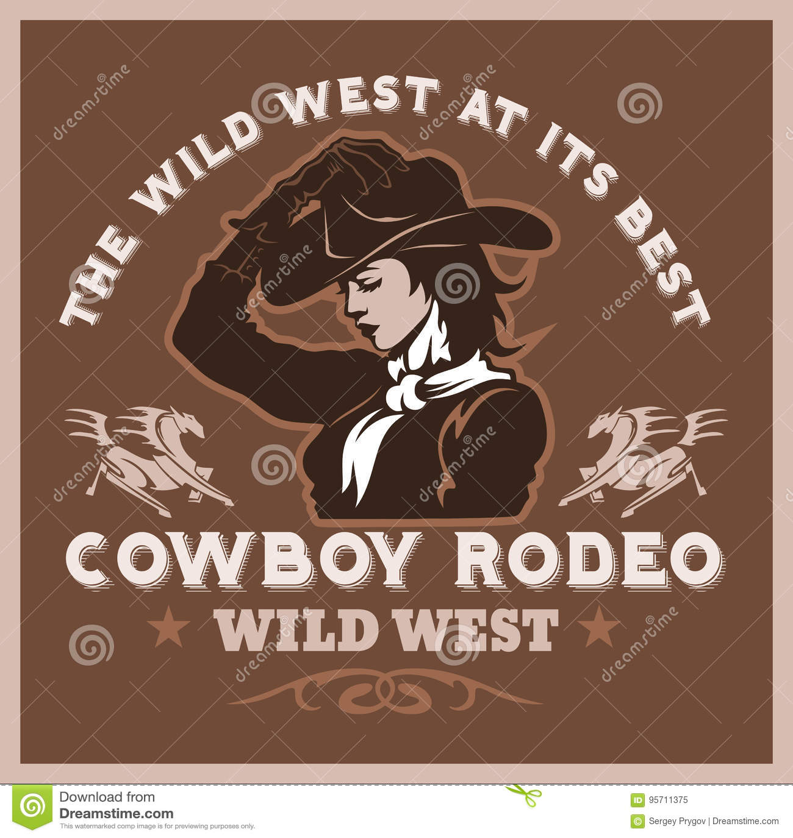 美国牛仔圈地海报