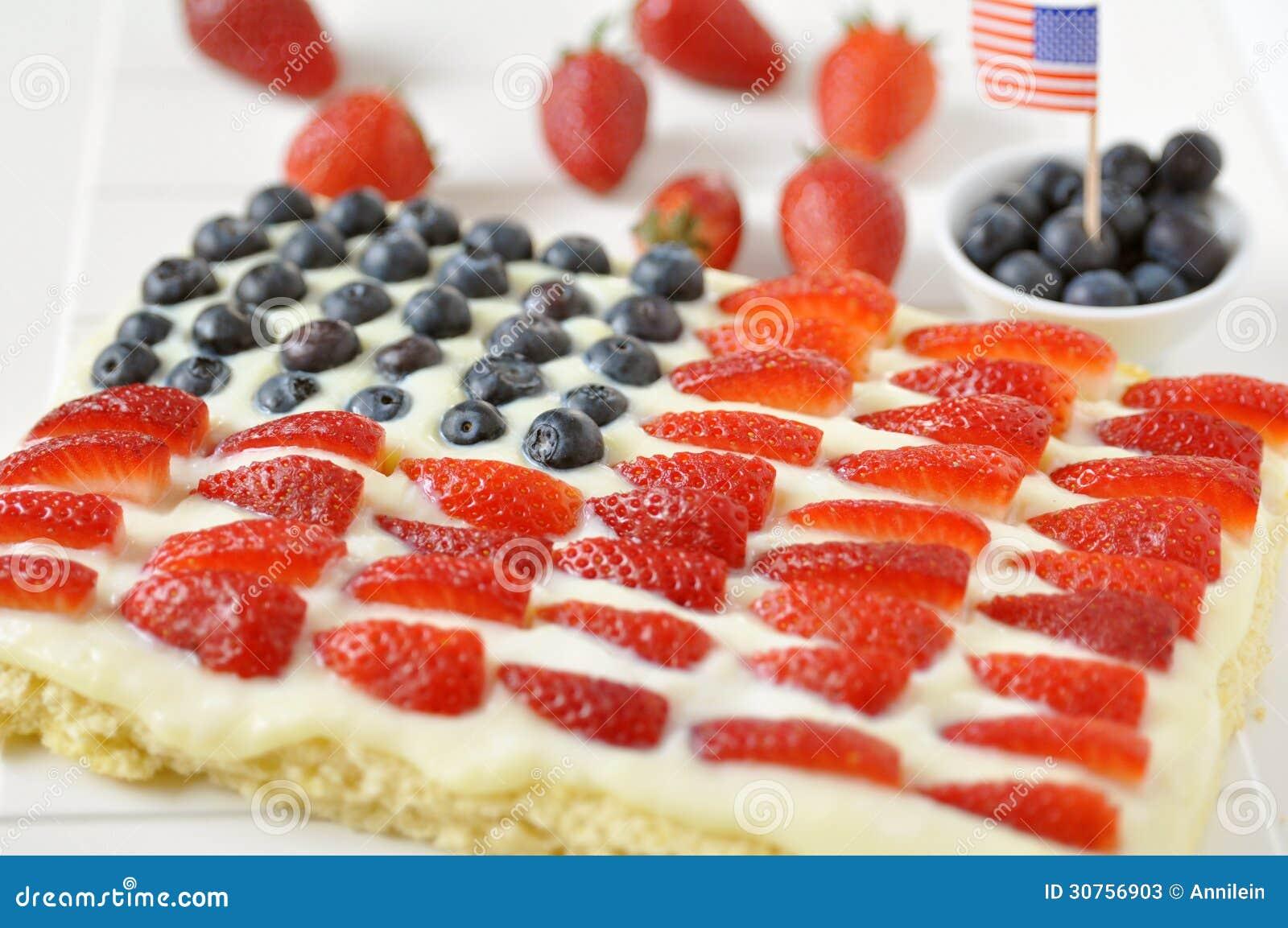 美国独立纪念日蛋糕