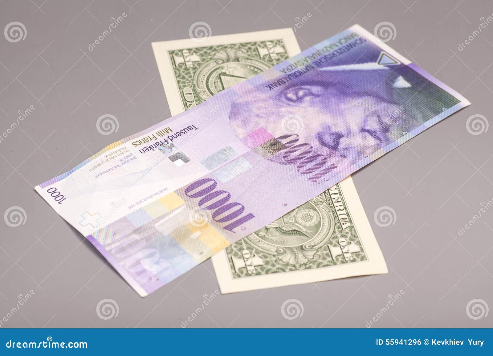 美国美元和瑞士法郎货币