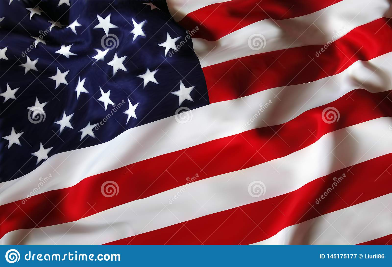 美国美国旗子为假日7月第4 庆祝美国独立日   o