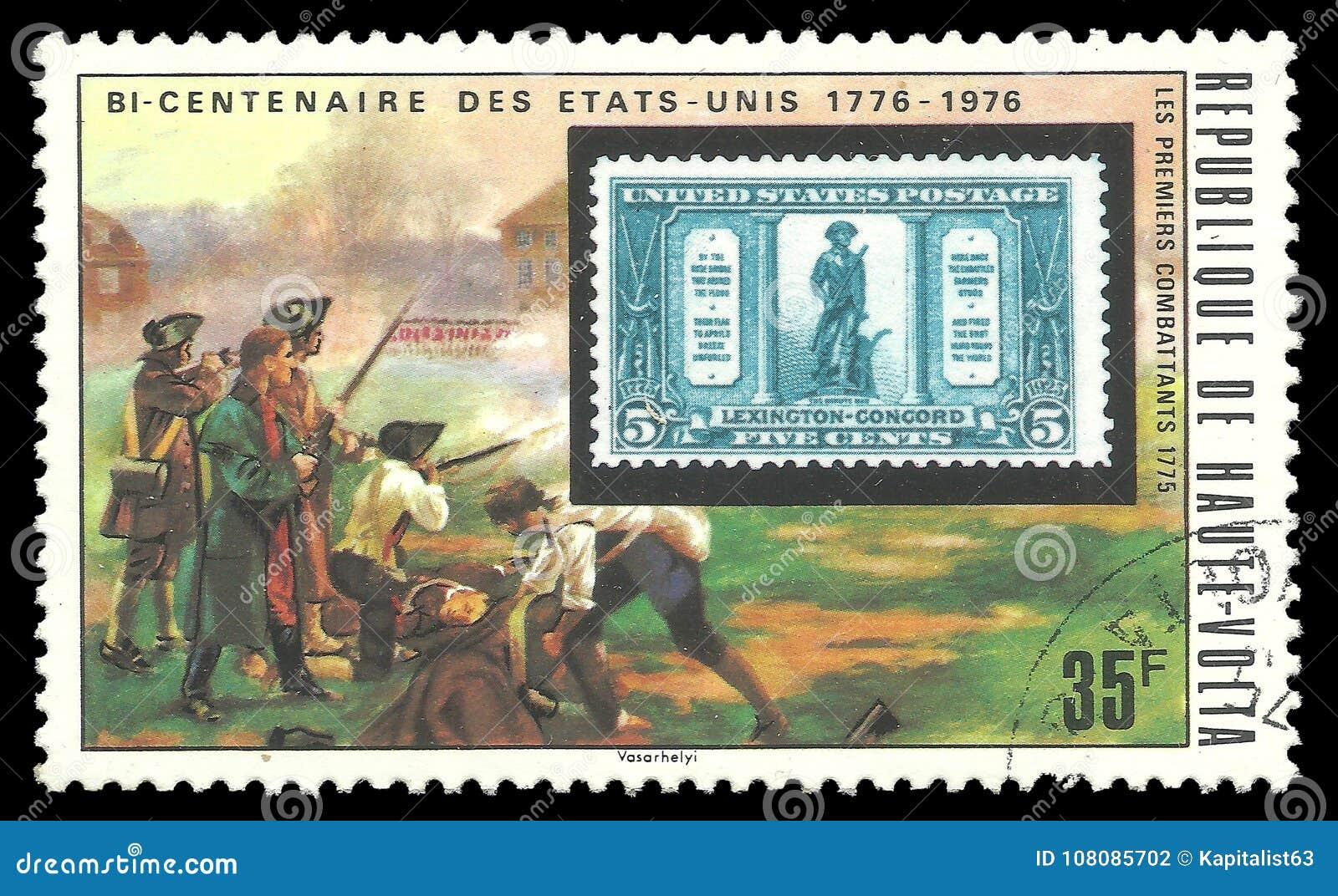 美国邮票和民兵
