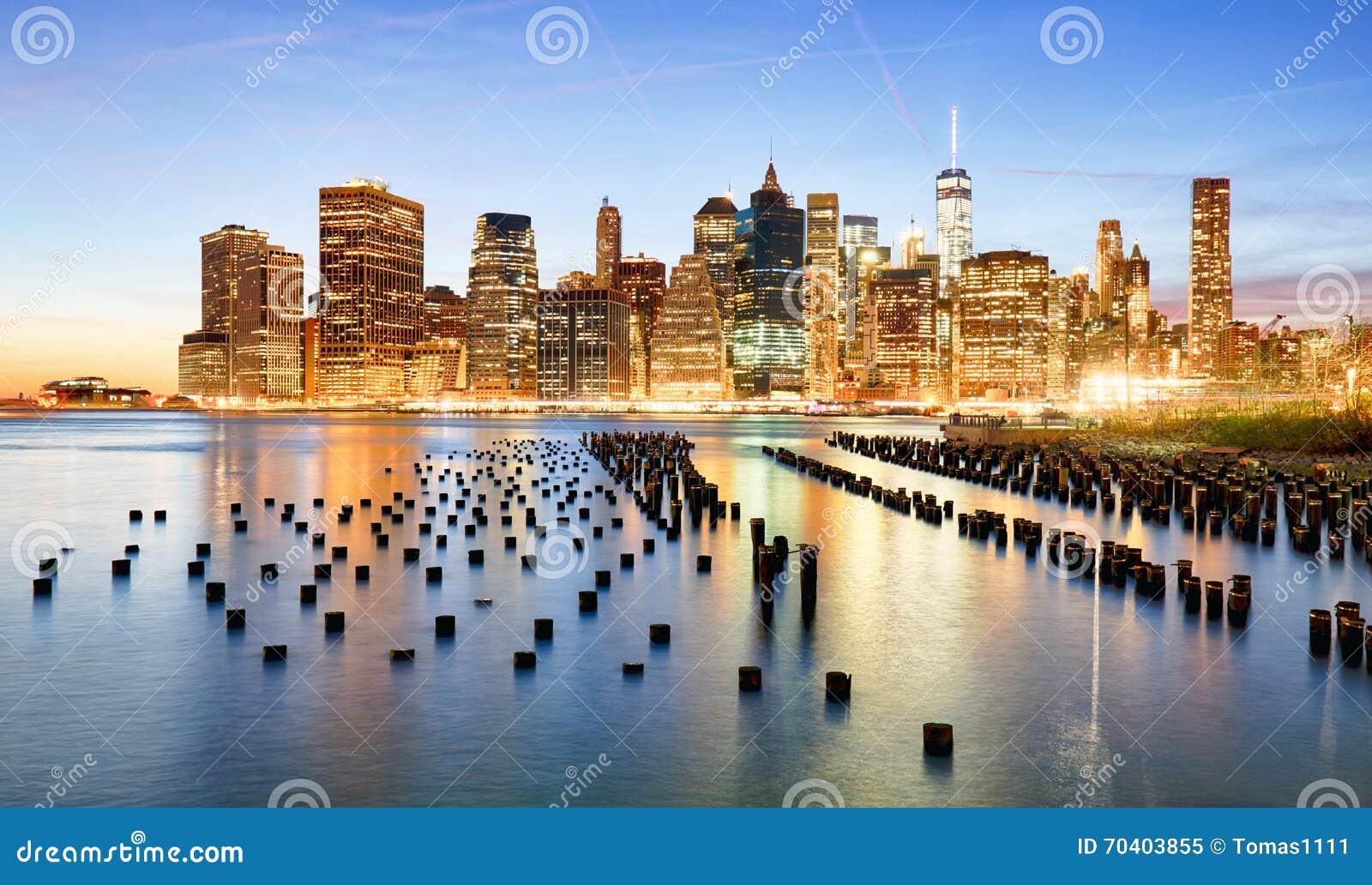 美国,纽约地平线