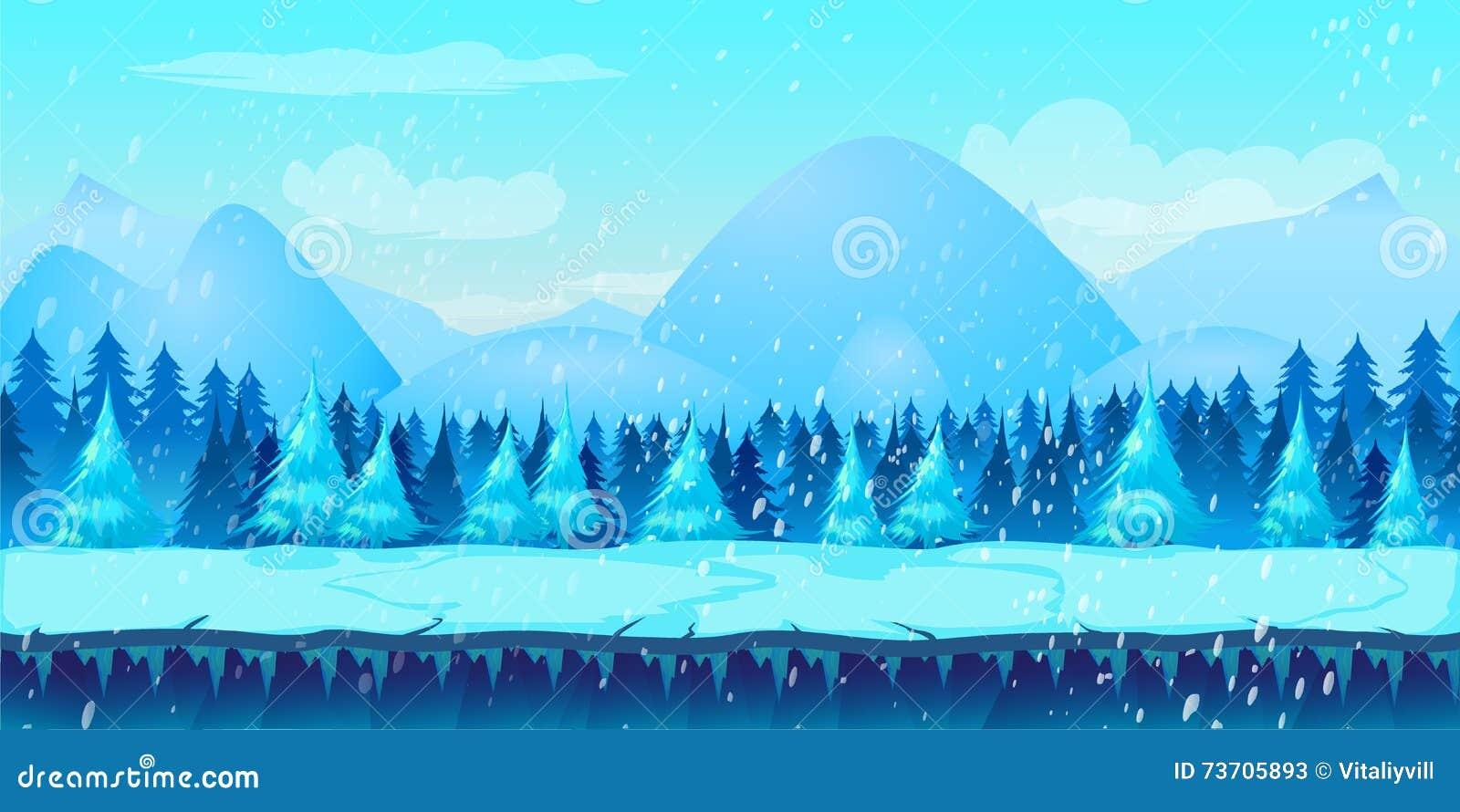 美好的冬天风景第2种比赛应用
