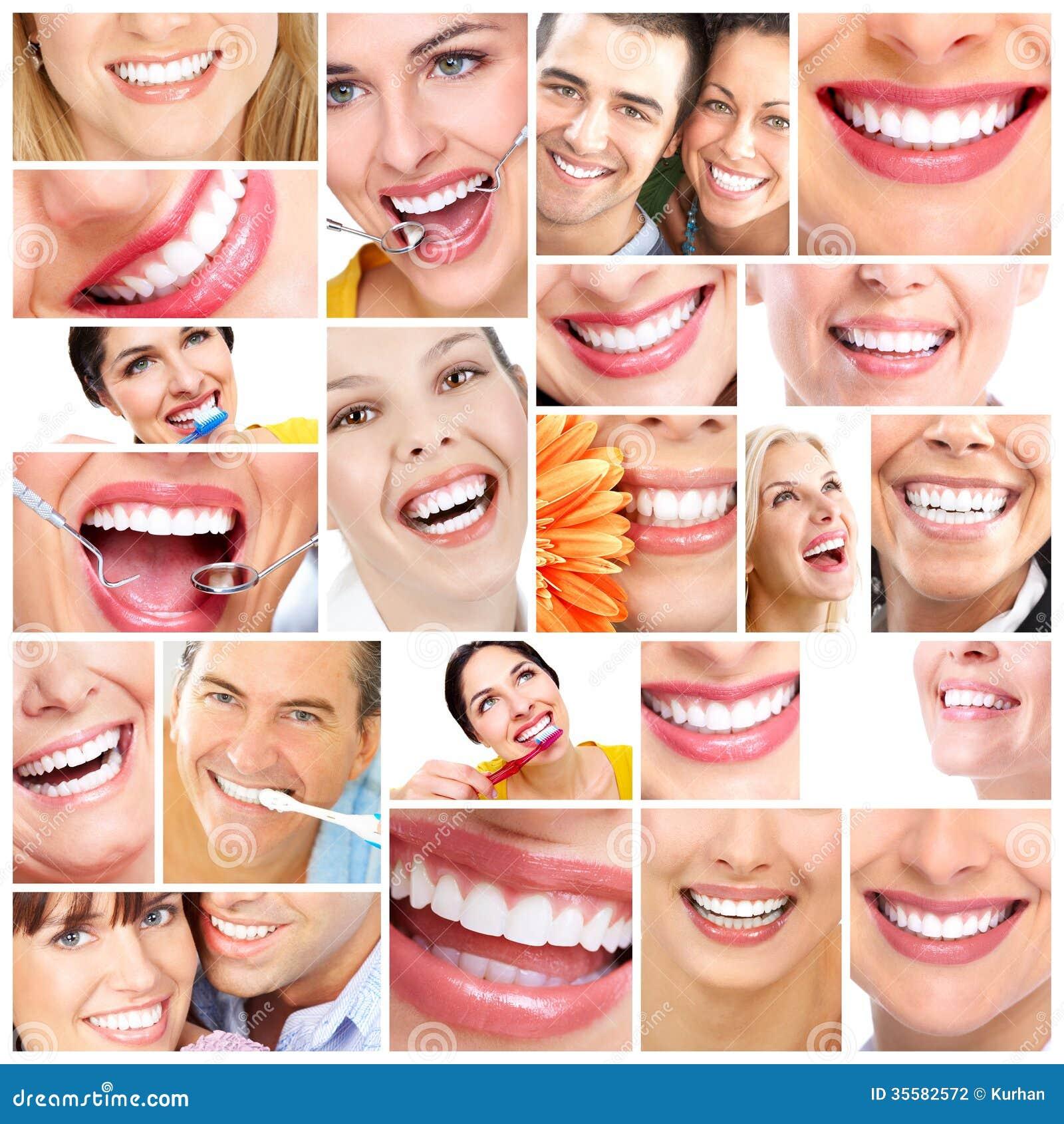 美好的妇女微笑。
