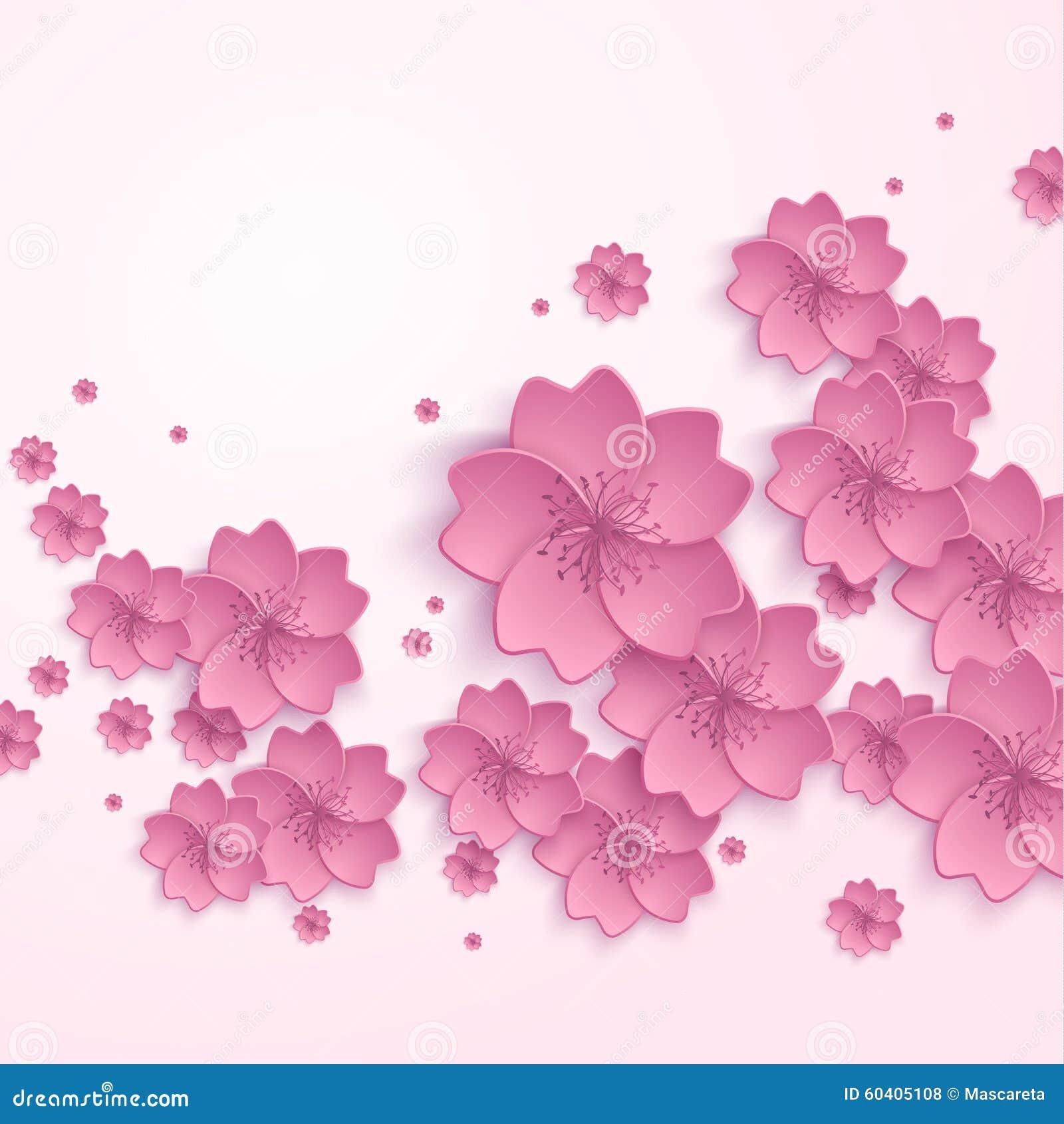 美好的抽象花卉时髦背景与