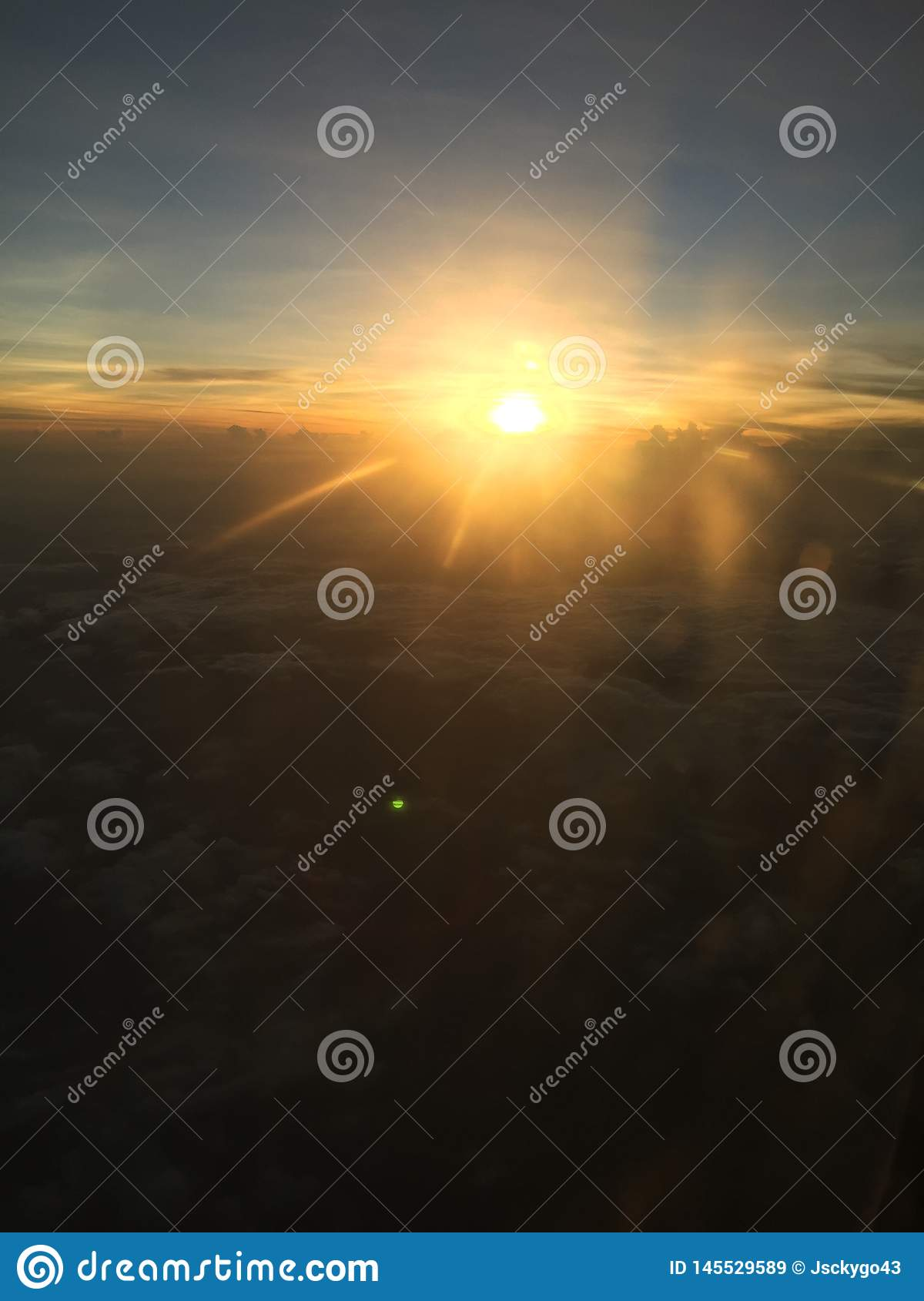 美好的日落视图