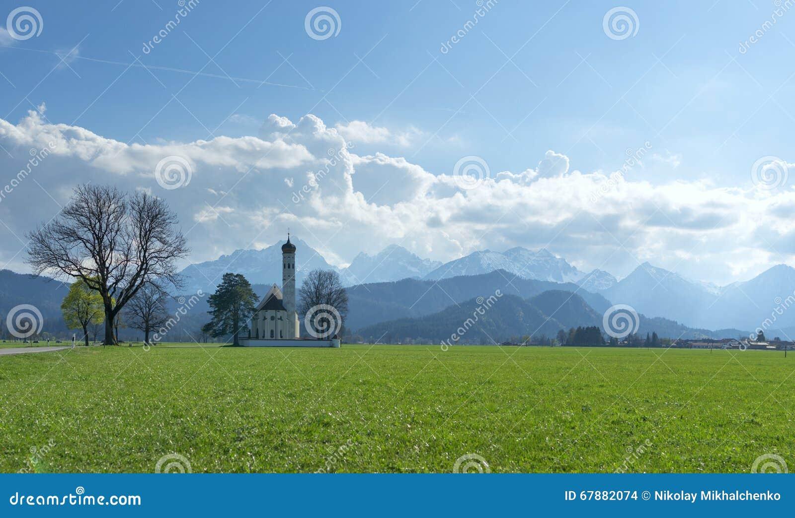 美好的高山风景在巴伐利亚