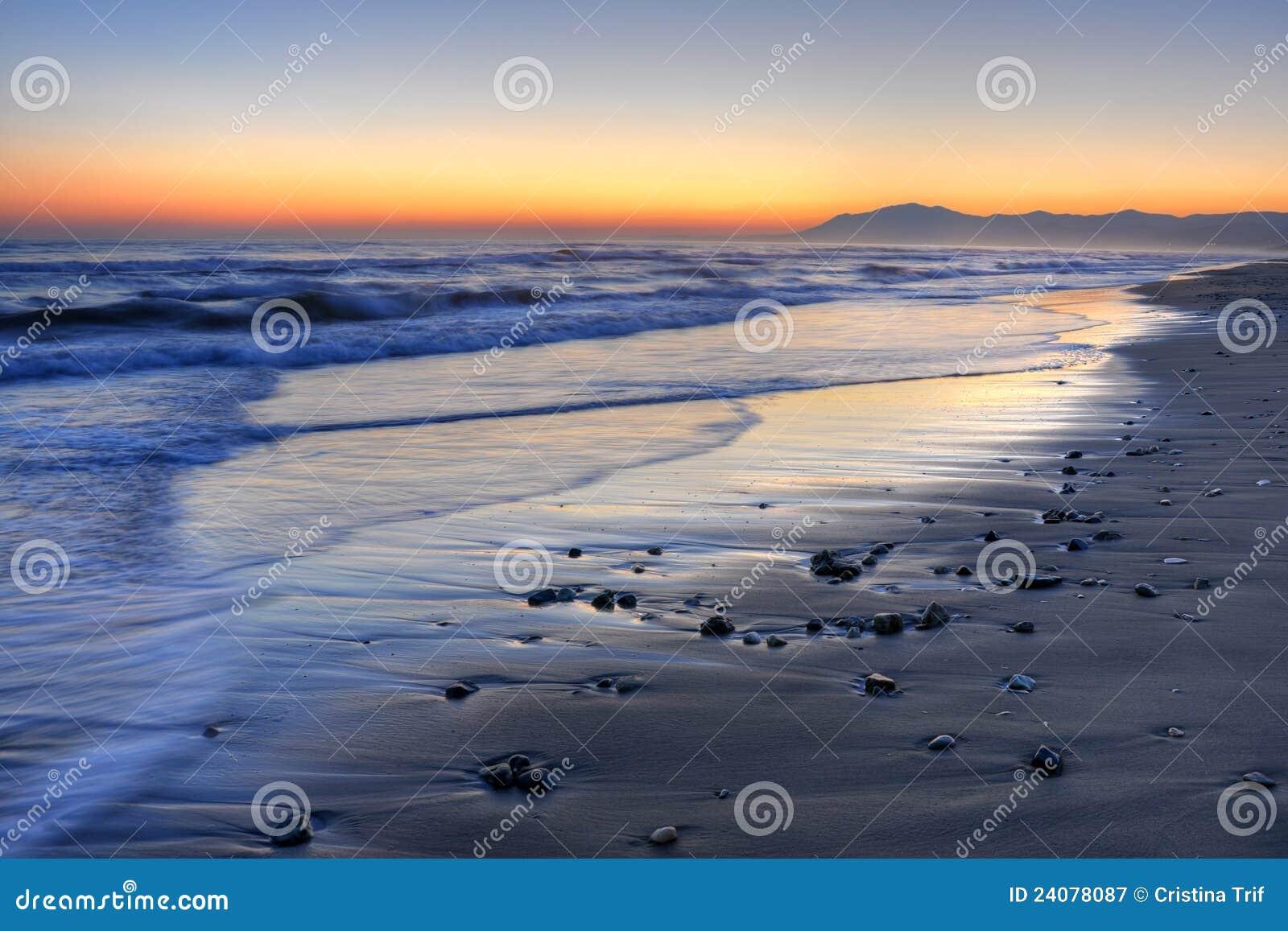 美好的Costa del Sol日落