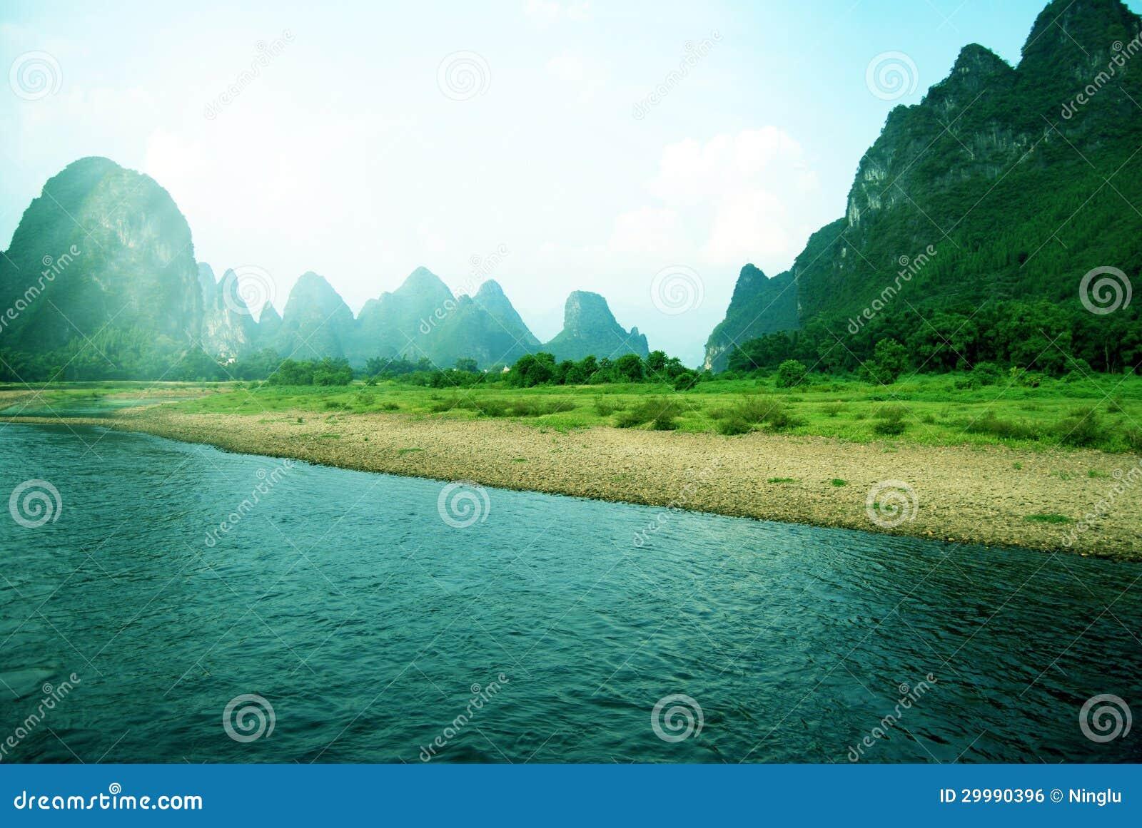 美好的Yangshuo风景在桂林,中国