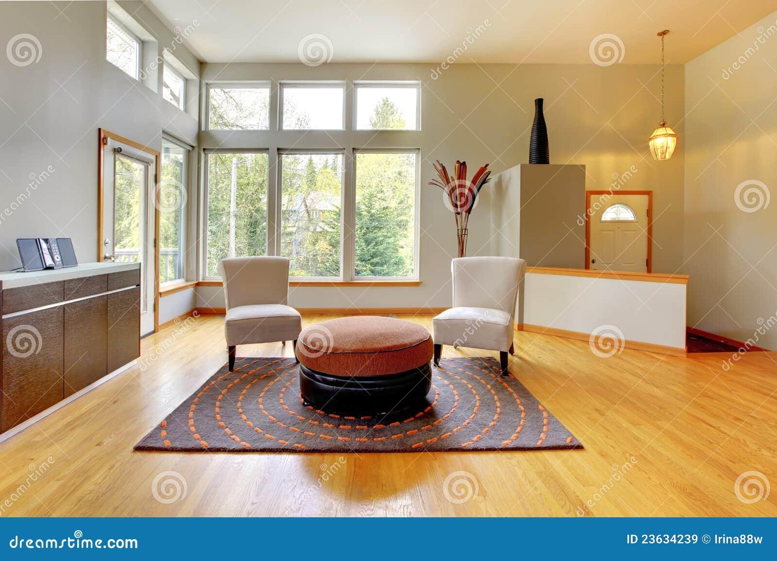 美妙的家庭内部居住的现代空间