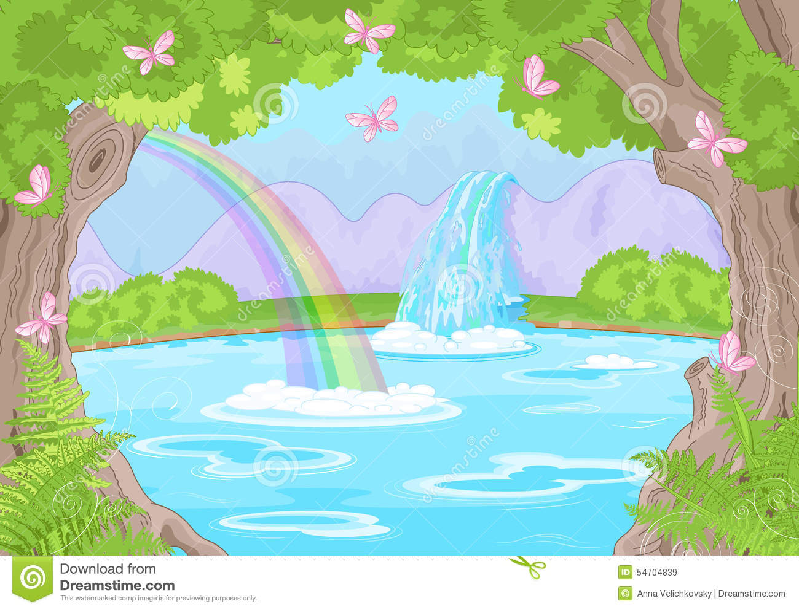 美妙的瀑布