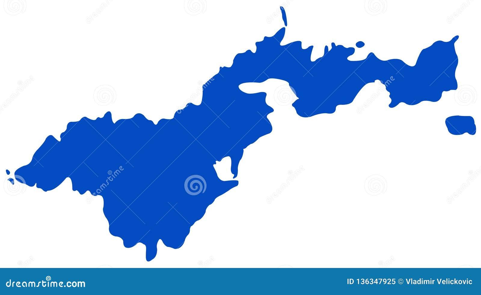 美属萨摩亚地图-位于南太平洋的美国的未组成社团的疆土,在萨摩亚东南部