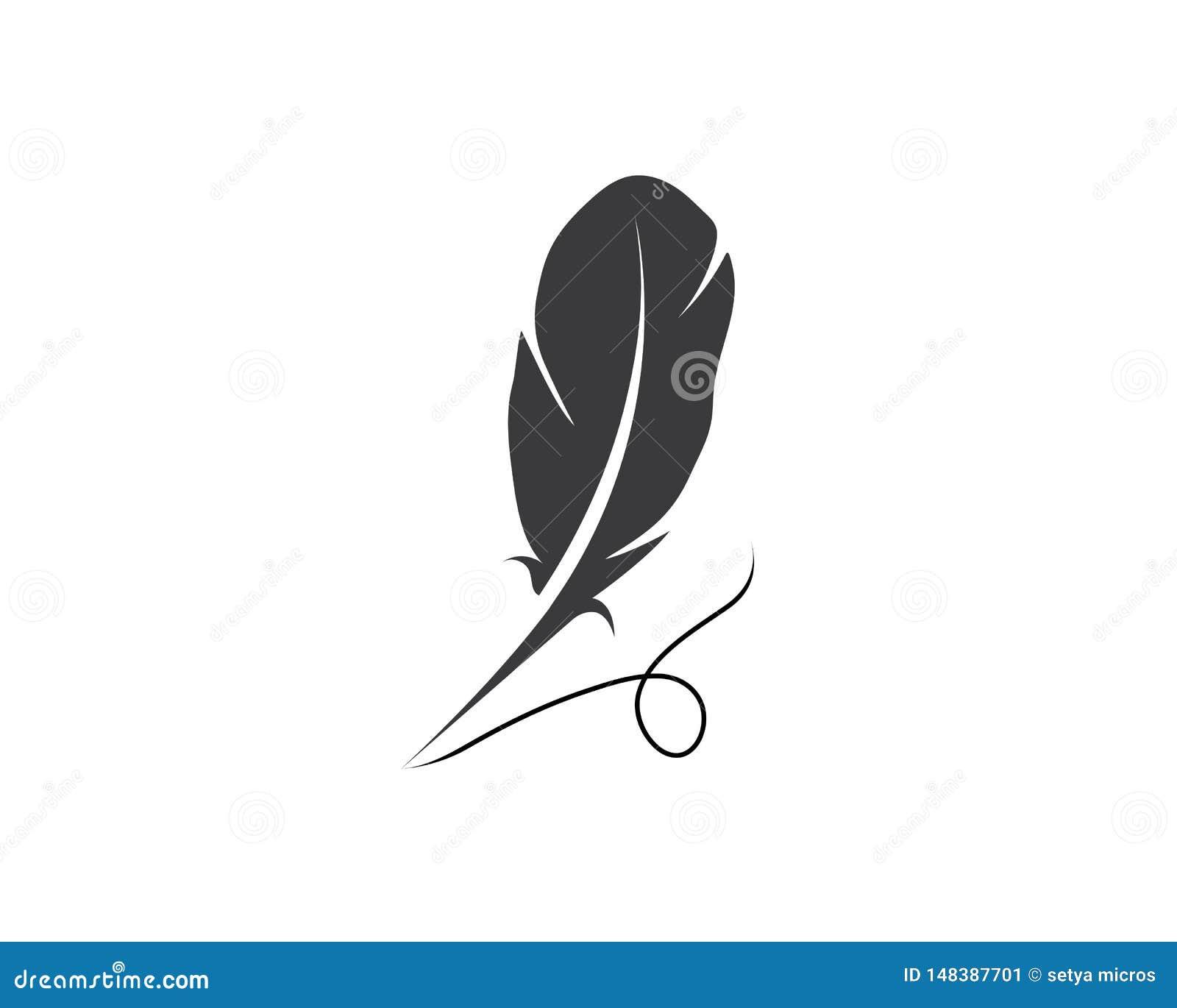 羽毛笔商标模板