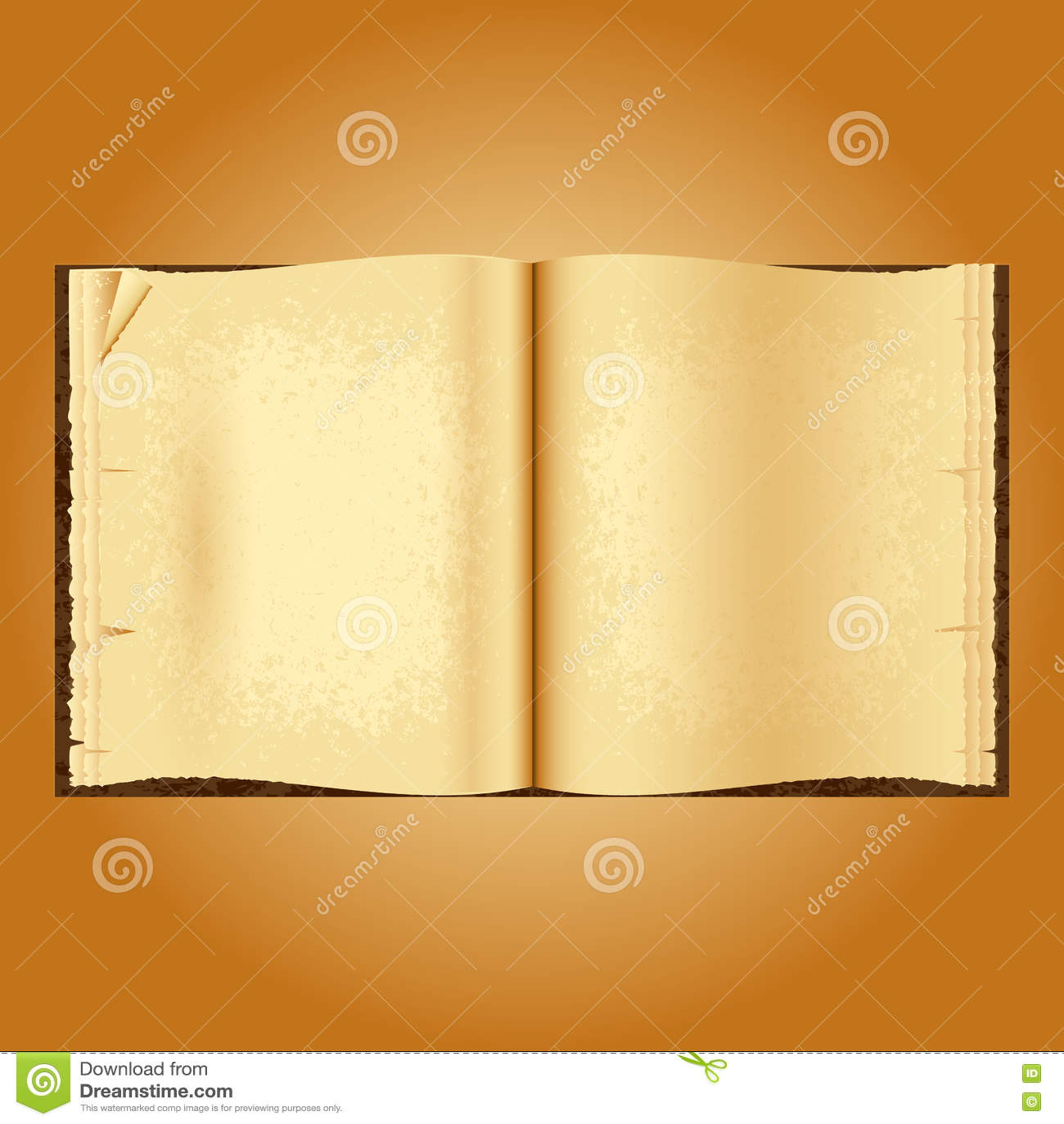 老书开张 起皱纹的被染黄的页