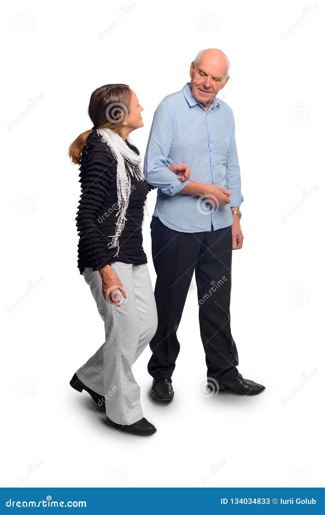 老人走握手