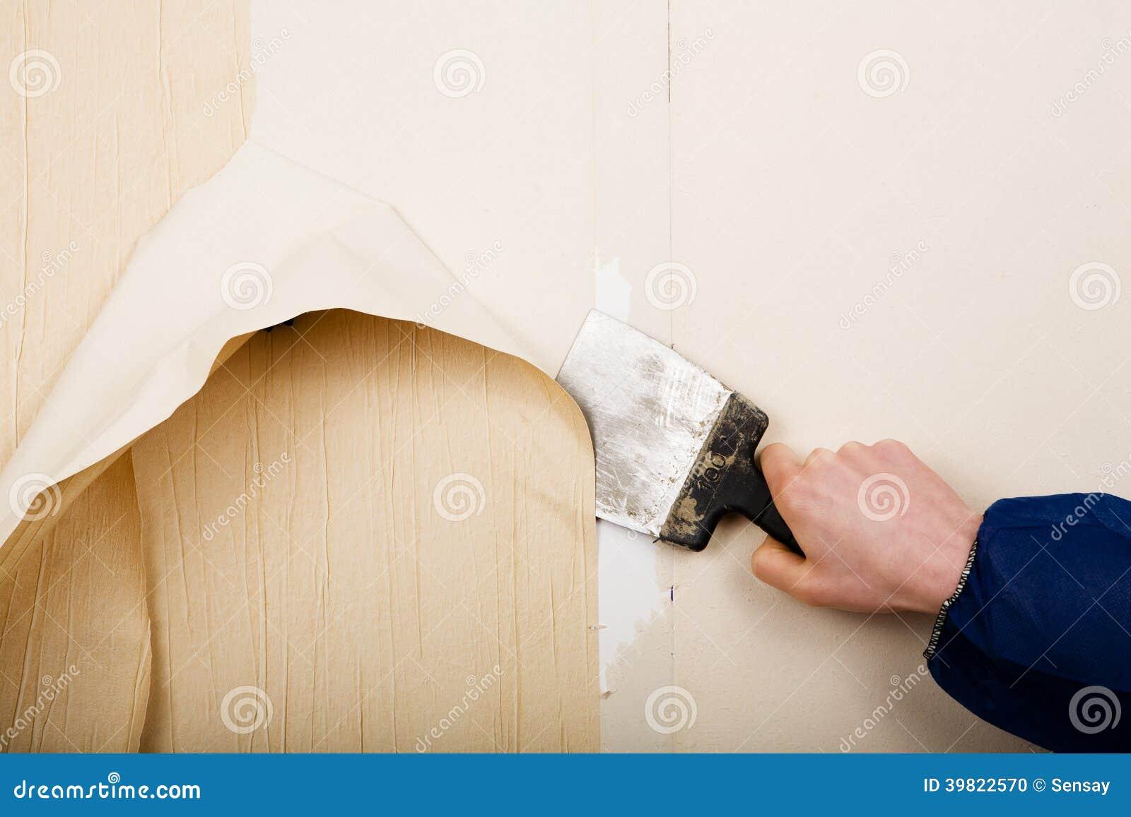 老墙纸撤除