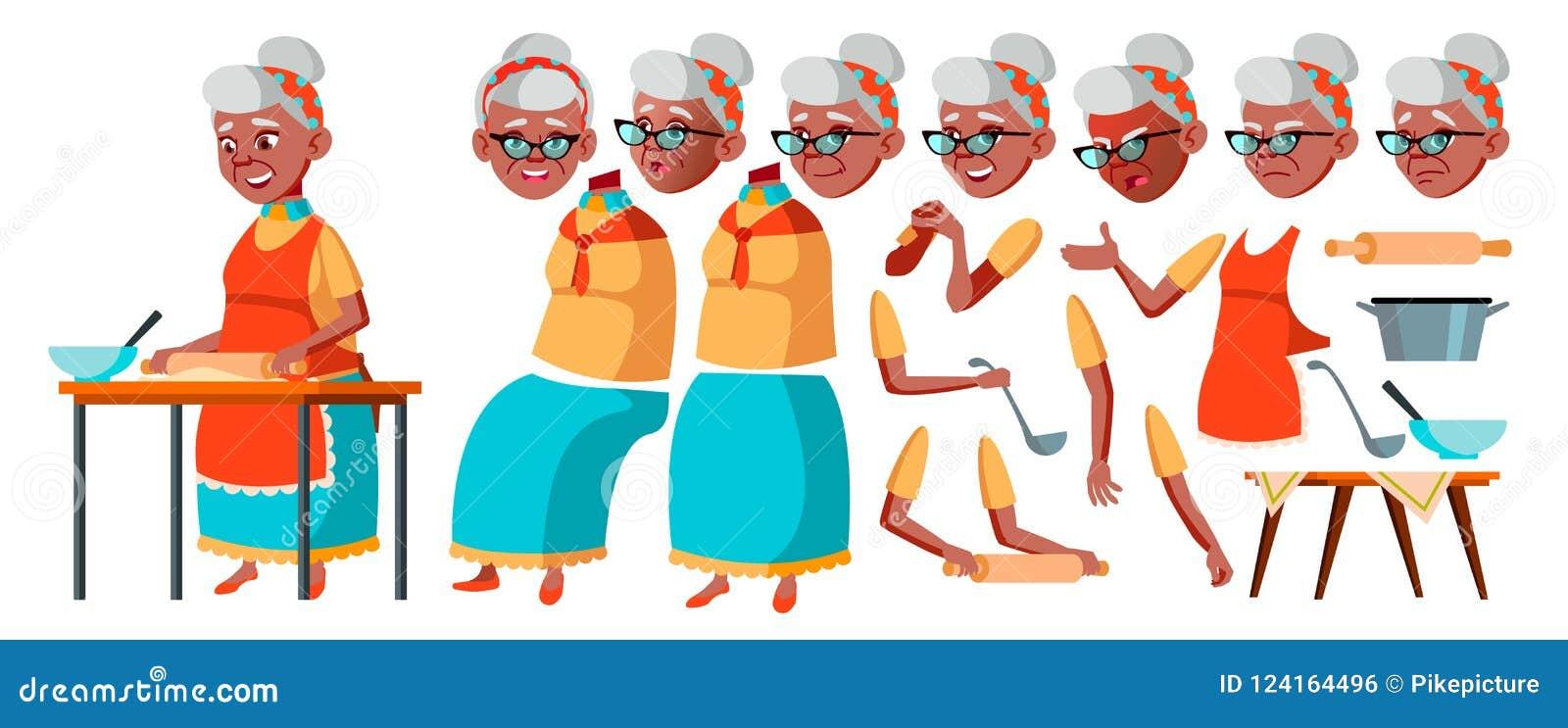 老妇人传染媒介 资深人画象 老年人 年龄 投反对票 美国黑人 动画创作集合 表面