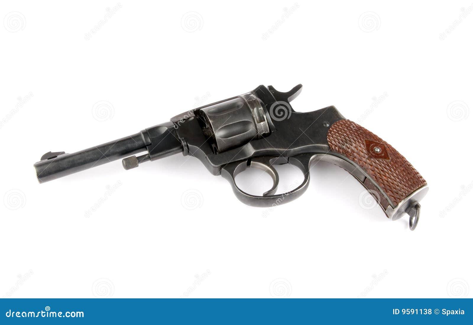 经典左轮手枪图片: 老左轮手枪 免版税库存照片
