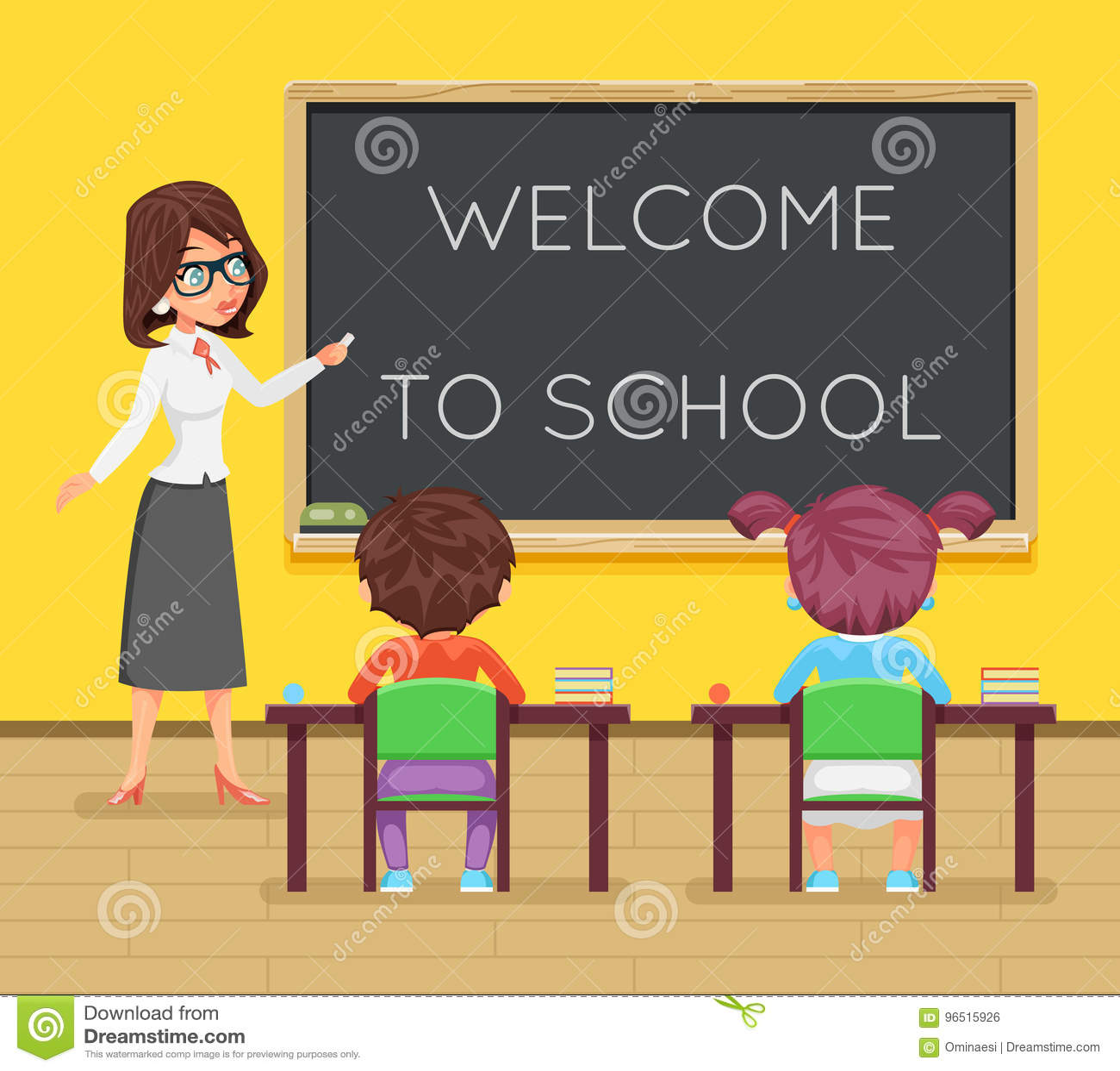 老师女性研究学生学生坐类桌书桌教育教训儿童字符象教室校务委员会