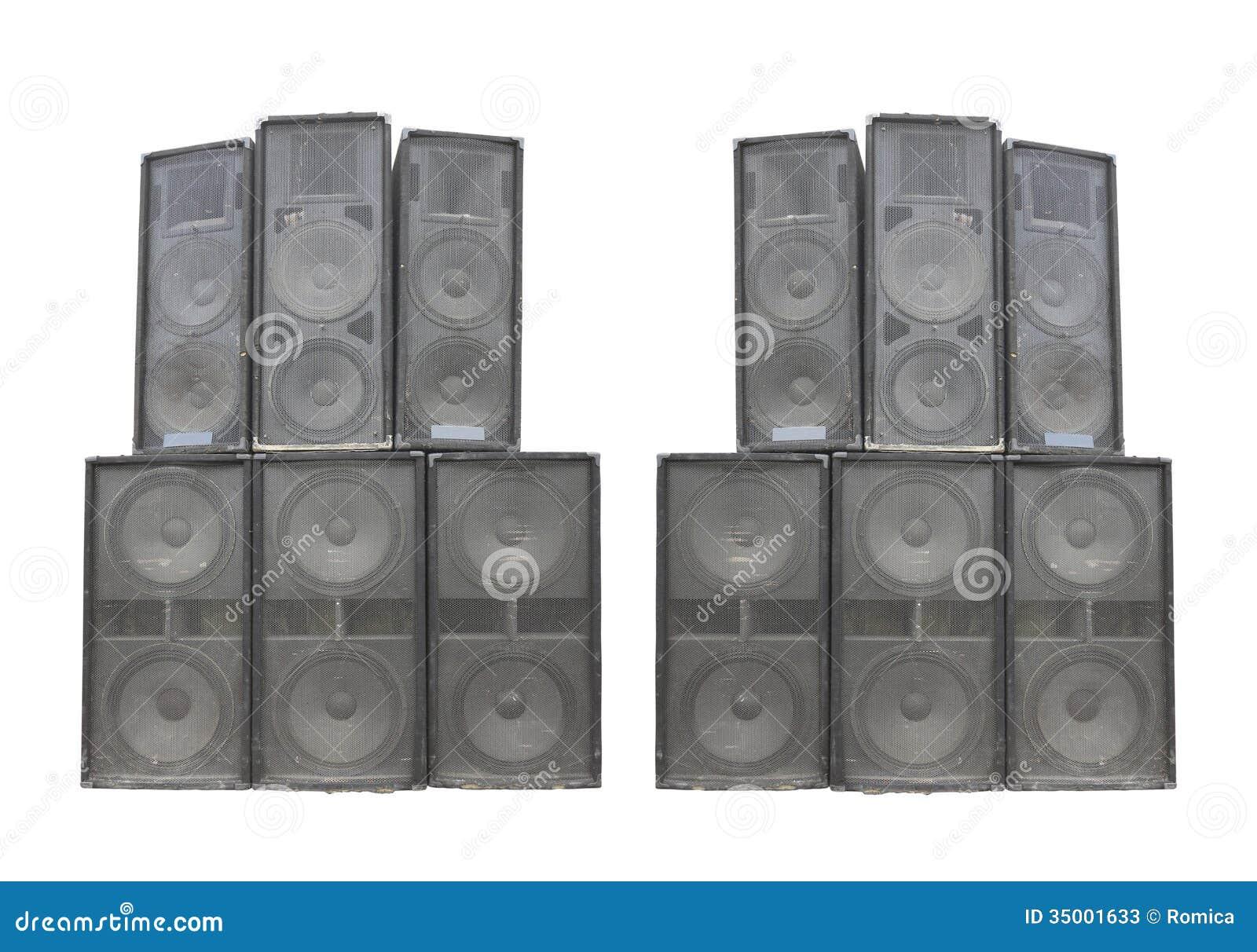 老强有力的在白色隔绝的阶段协奏曲音频报告人