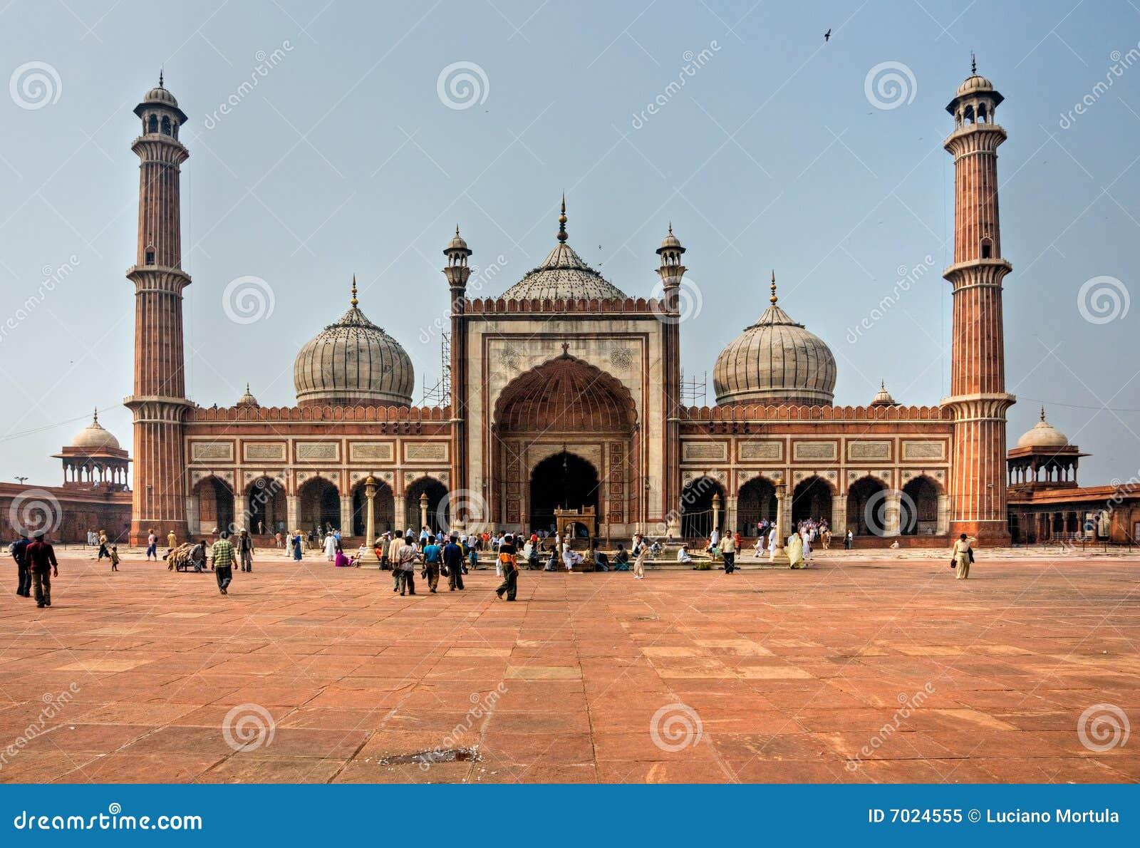 老德里印度jama masjid