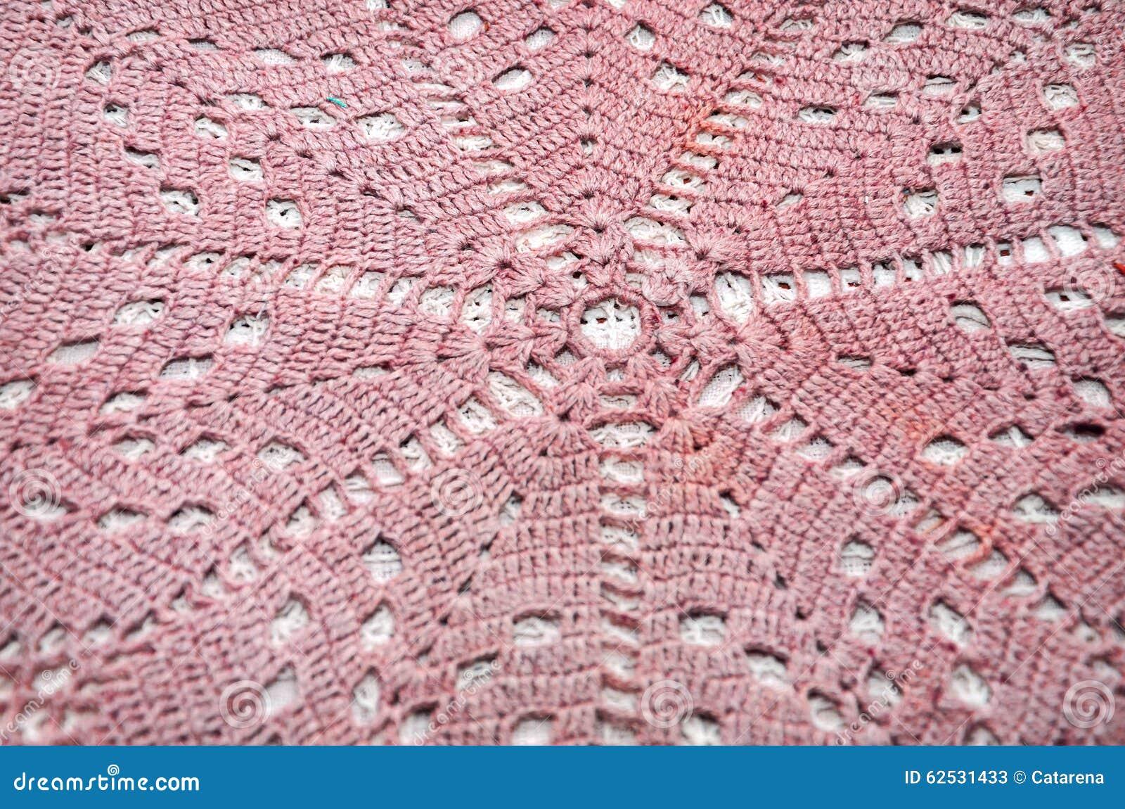 老手工制造钩针编织小垫布