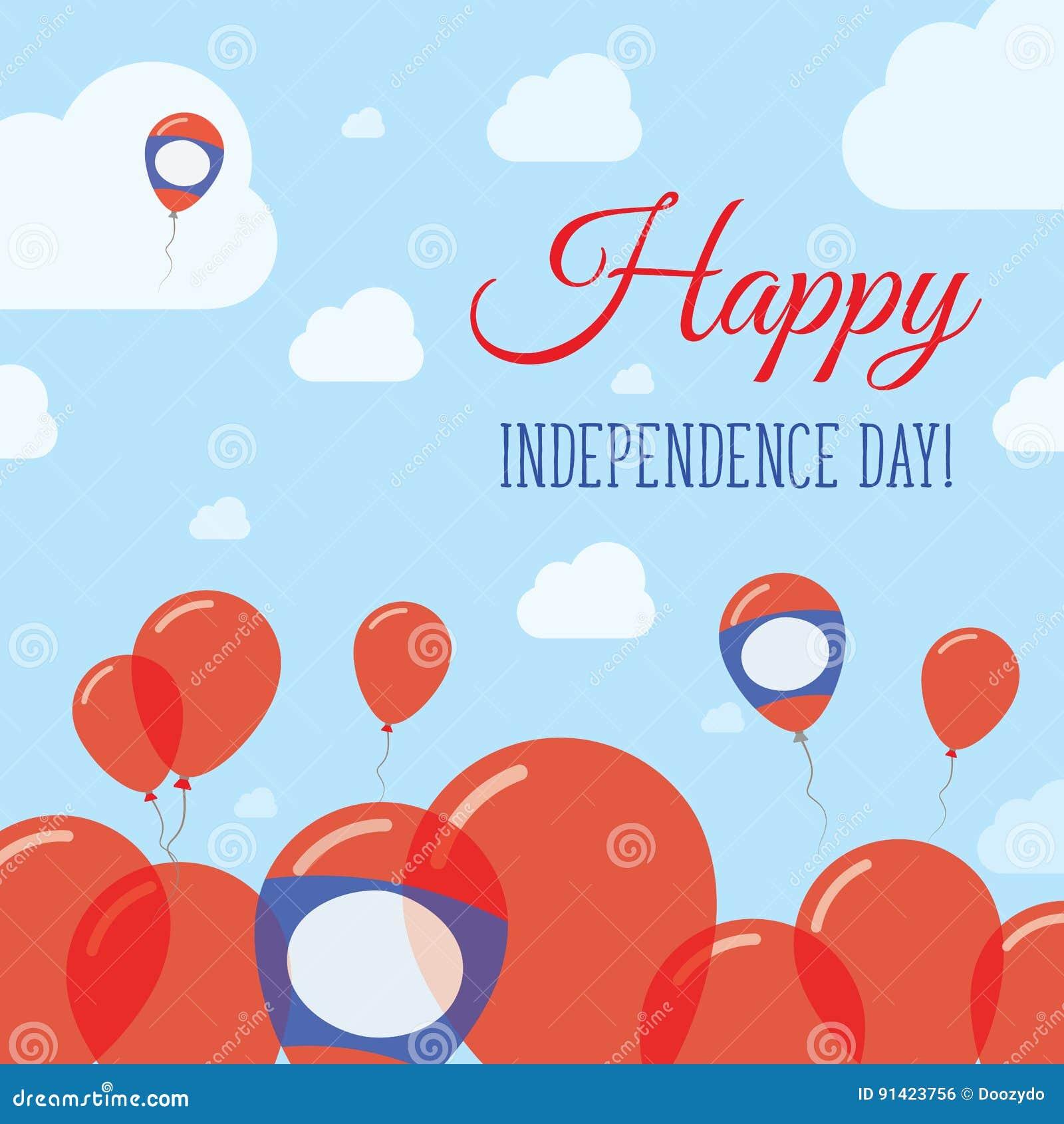 老挝人人` s民主共和国美国独立日