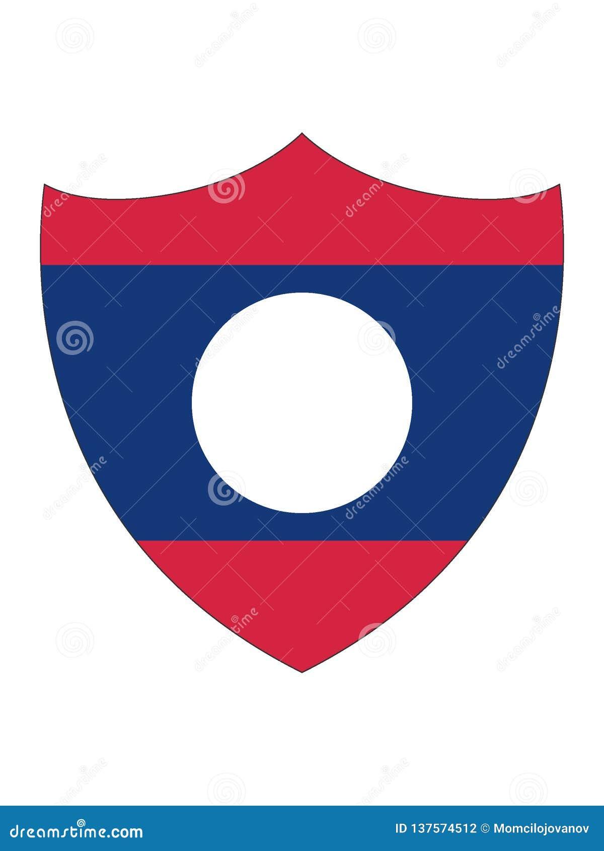 老挝的盾形的旗子
