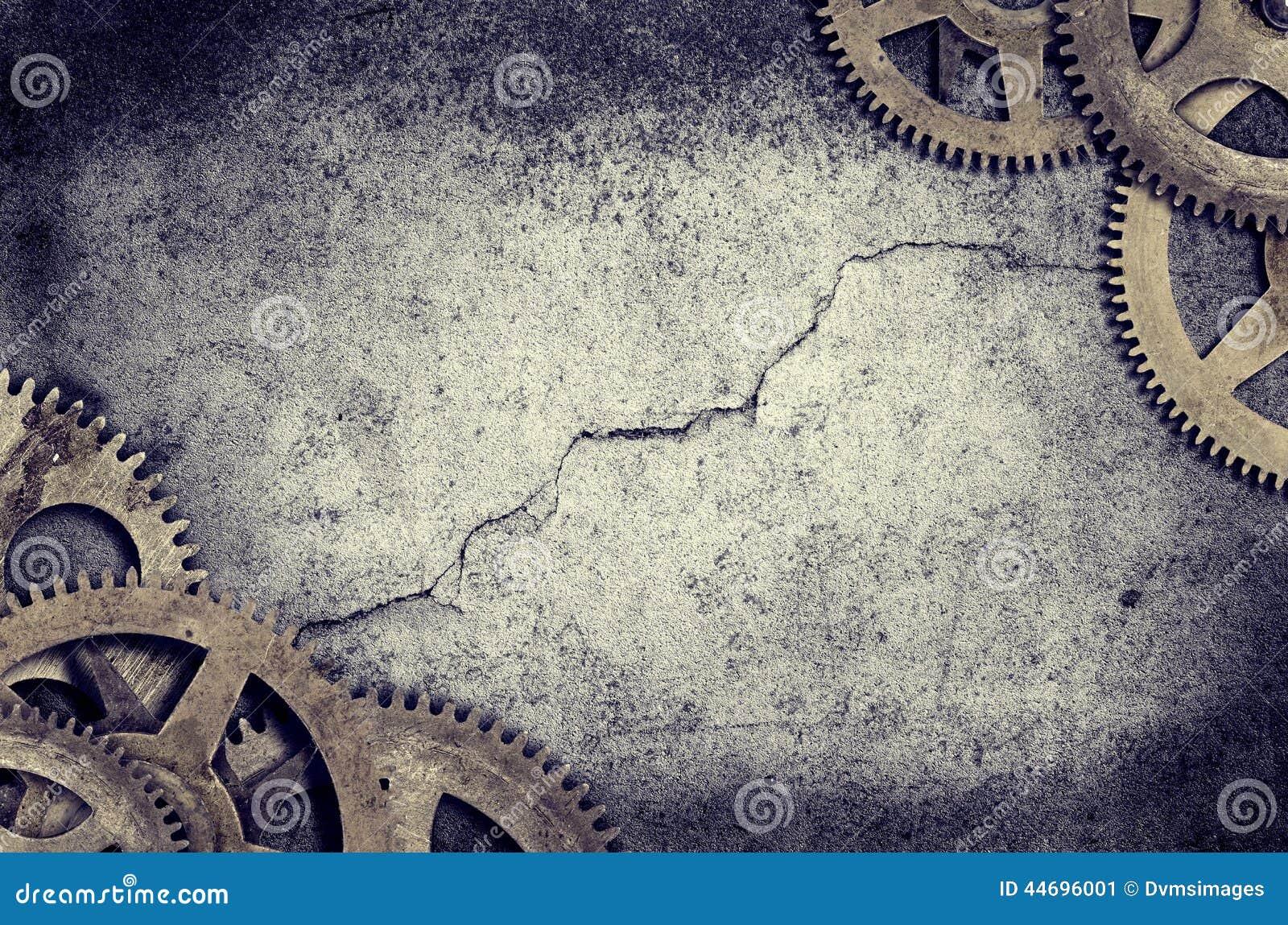 老时钟嵌齿轮边界
